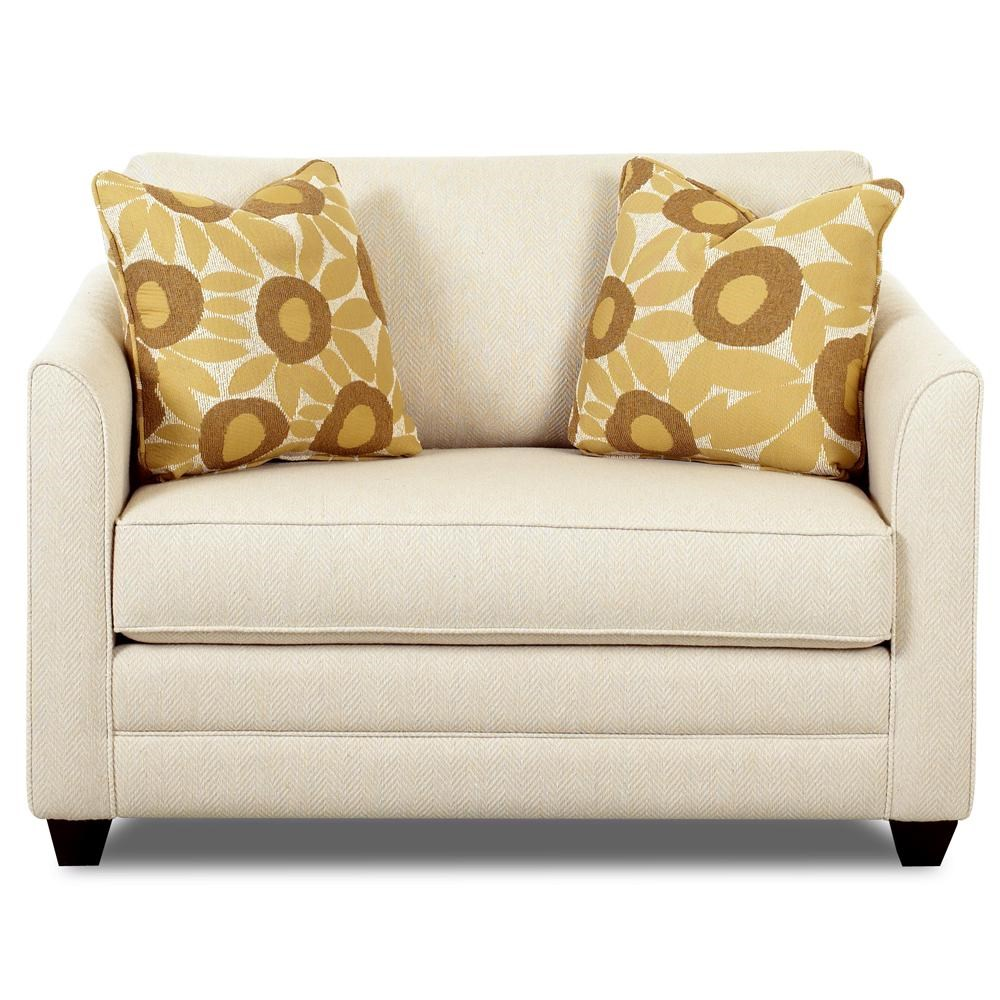 Tilly Fabric Sofa Queen Sleeper Klaussner Tilly Upholstered Chair Sleeper With A Twin Mattress