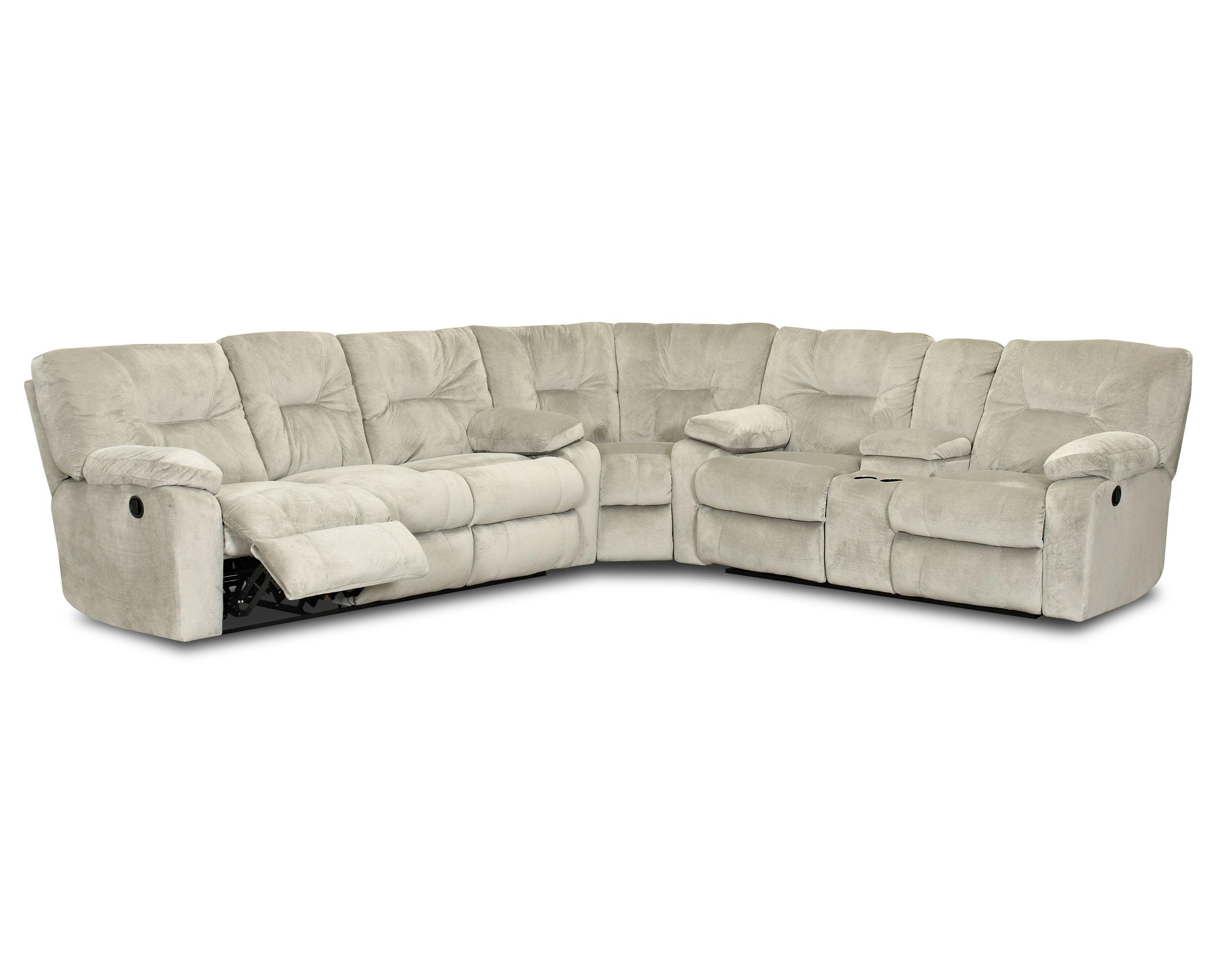 Home Furnishings Toronto Klaussner Toronto Casual Power Reclining Sectional With Pillow Top