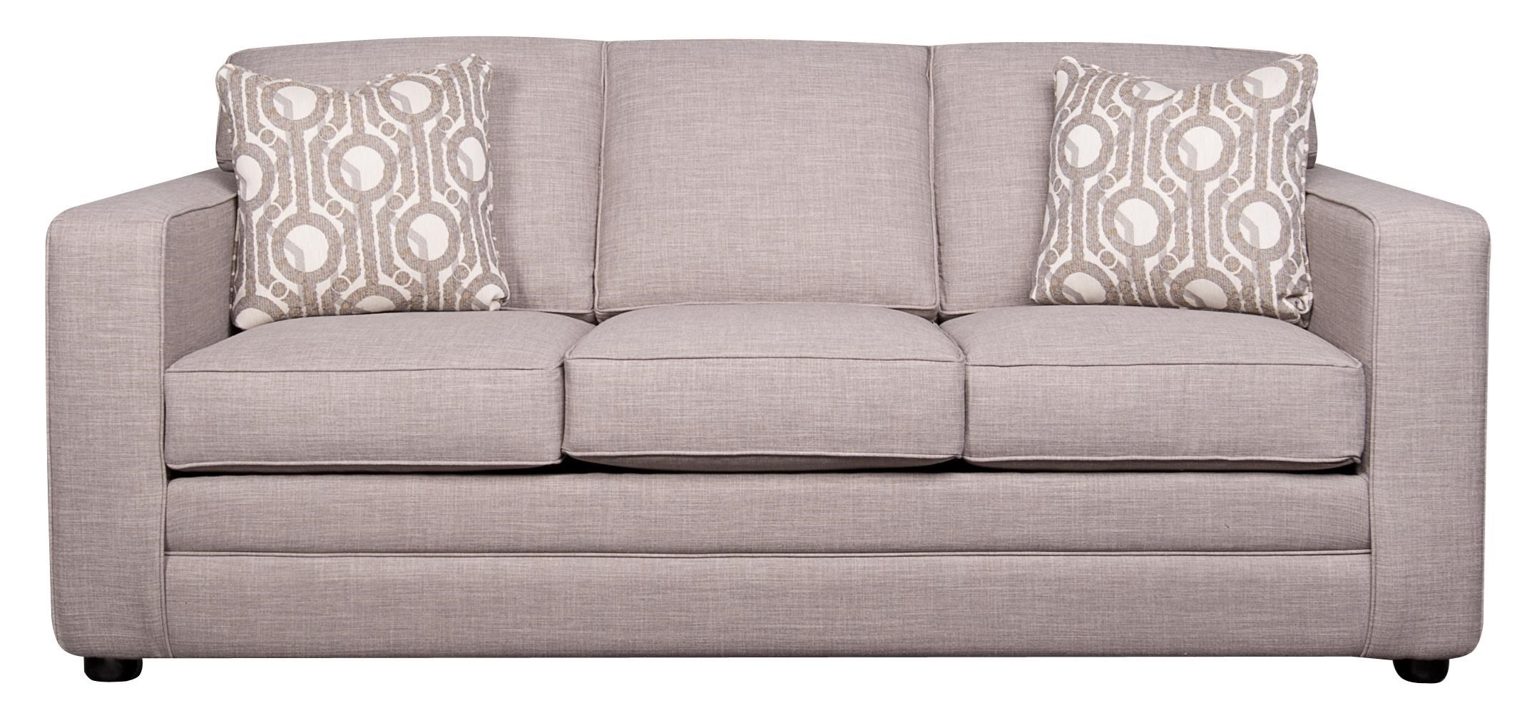 Sofa Queen Vera Queen Sleeper Sofa With Memory Foam By Klaussner At Morris Home