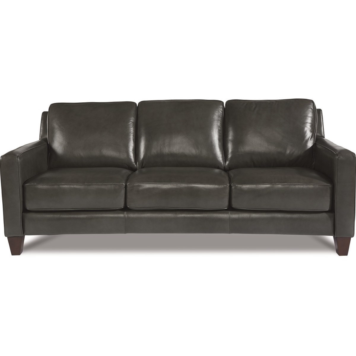 Leather Sofa La Z Boy La Z Boy Archer Contemporary Leather Sofa Morris Home Sofas