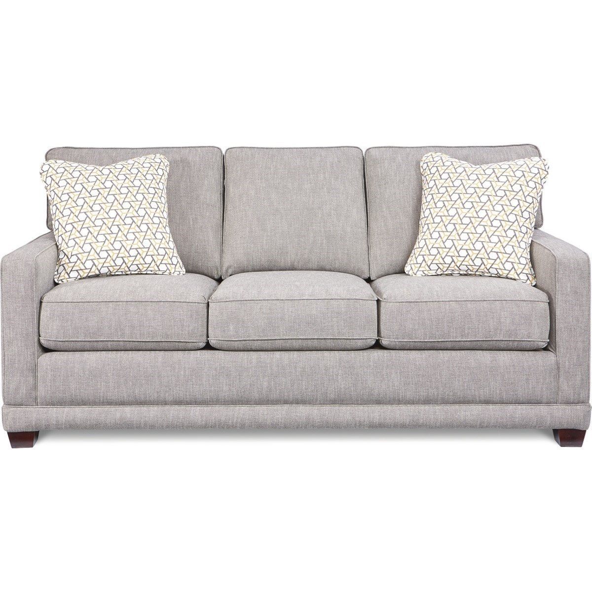 Cord Sofa La Z Boy Kennedy Transitional Sofa With Wood Legs And Welt Cord