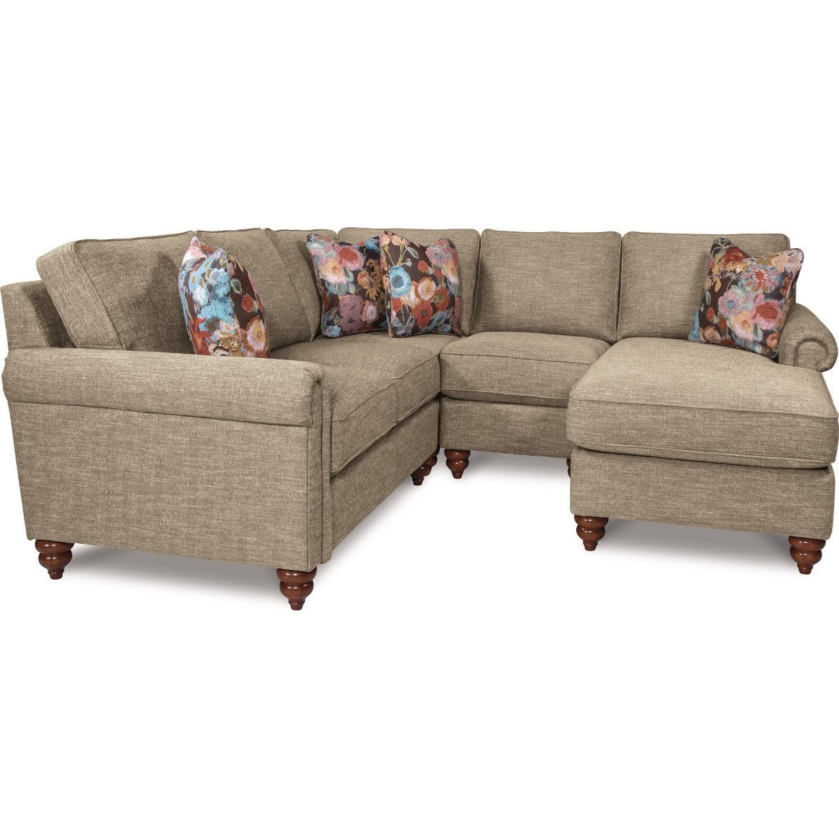 Chaise Z La Z Boy Leighton Traditional Four Piece Sectional Sofa With Left