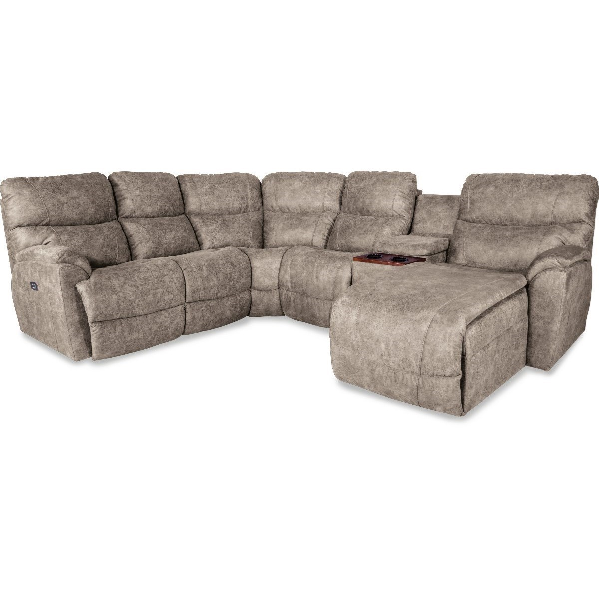 Chaise Pc La Z Boy Trouper Five Piece Reclining Sofa With Left Sitting Tilt