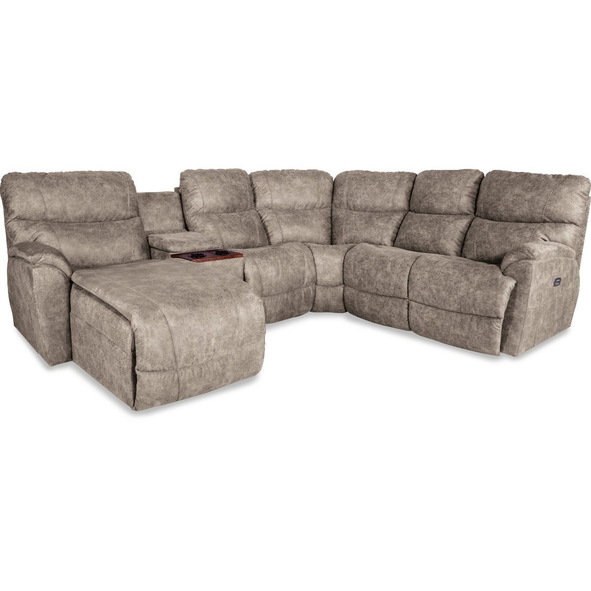 Chaise Pc La Z Boy Trouper Five Piece Power Reclining Sofa With Right