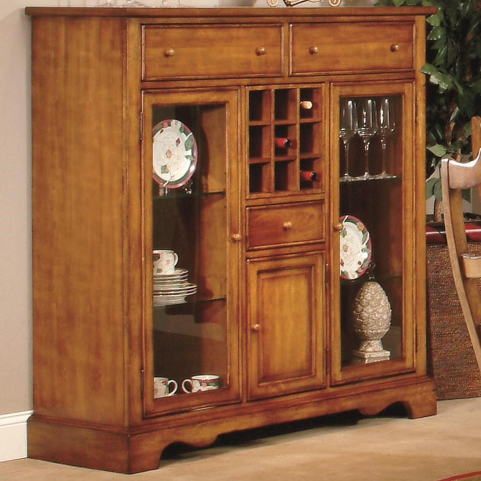 Buffet Sideboard With Wine Rack Harvest Dining Buffet W Wine Rack By Lacquer Craft Usa At Royal Furniture