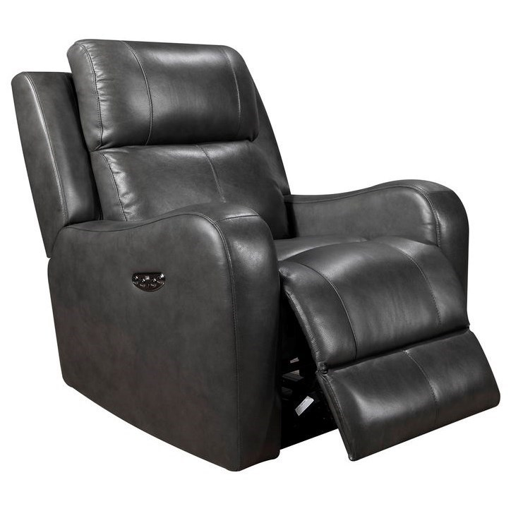 Electric Recliner Leather Chairs Cortana Leather Power Recliner By Leather Italia Usa At Darvin Furniture