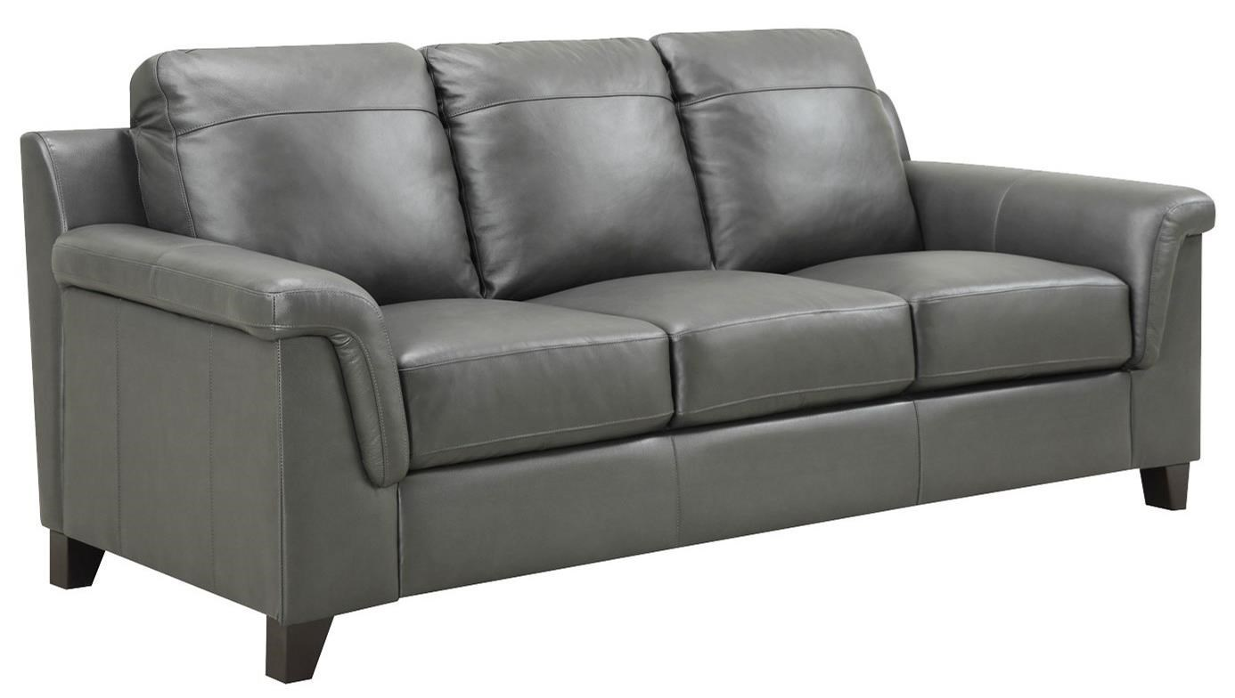Home Sofa In A Box Leather Italia Usa Sienna Contemporary Sofa With Box Cushions And