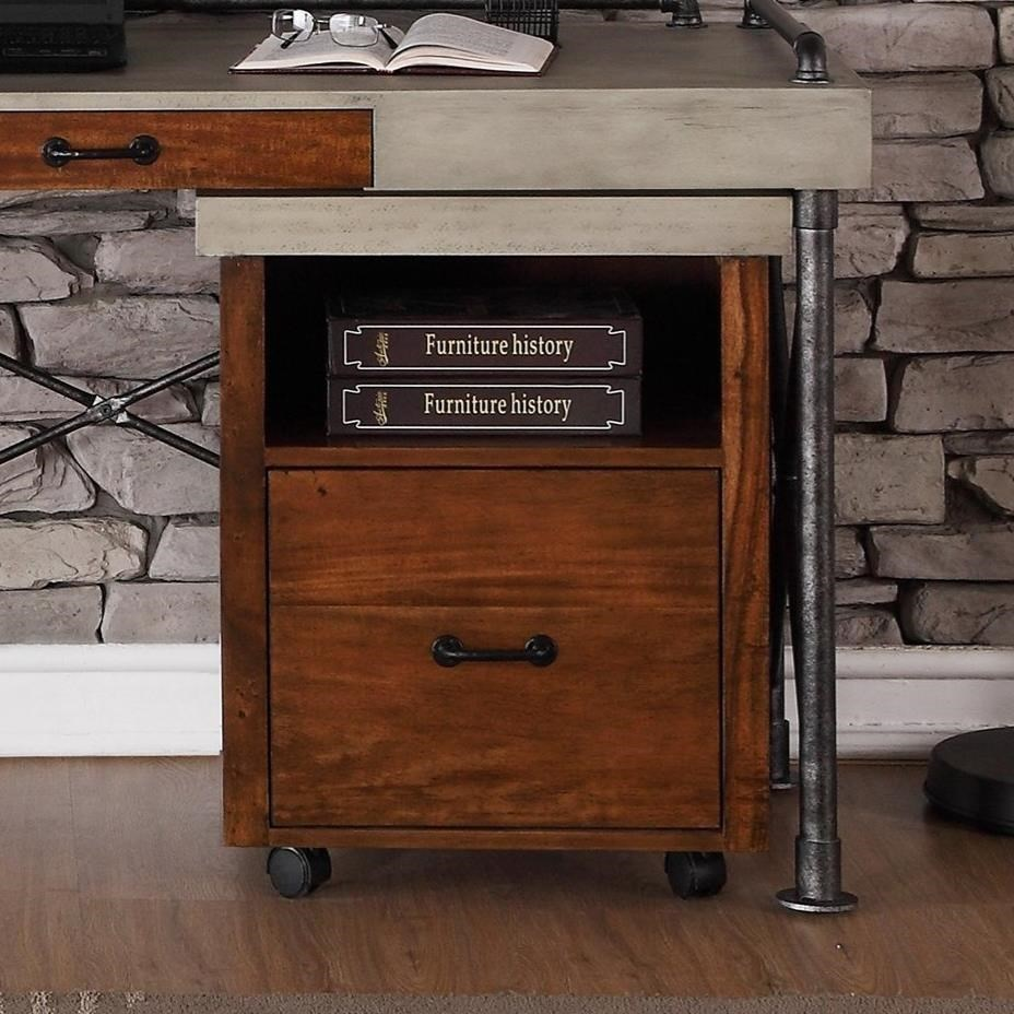 Rolling Filing Cabinets Steampunk Collection Steampunk Rolling File With Faux Concrete Top By Legends Furniture At Wayside Furniture