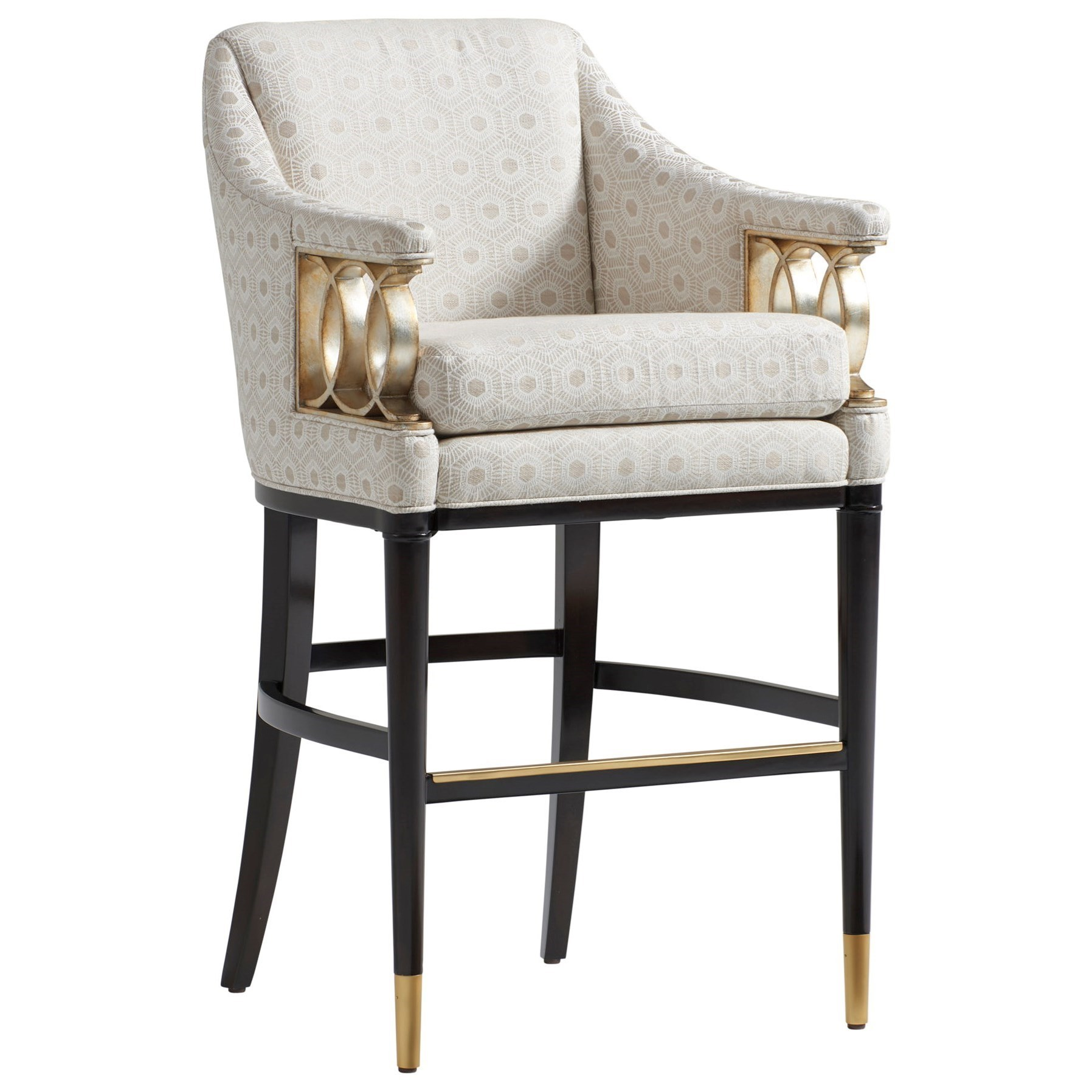 Fabric Counter Height Bar Stools Lexington Carlyle Hemsley Upholstered Bar Stool With Burnished
