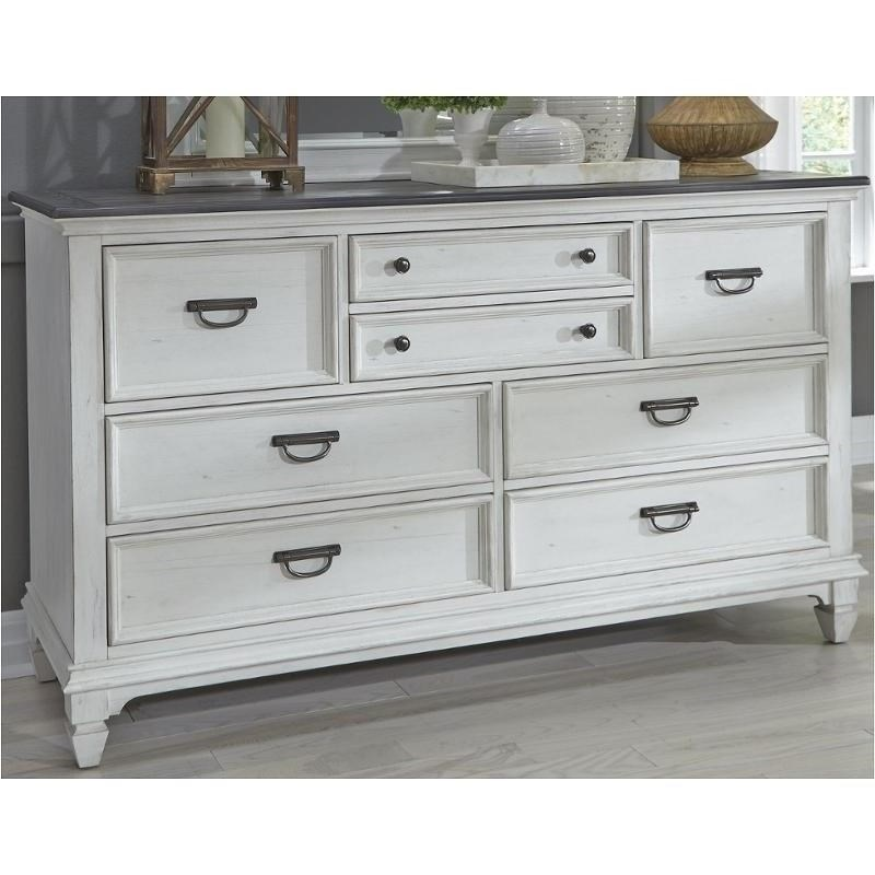White 8 Drawer Dresser Allyson Park Cottage 8 Drawer Dresser With Antique Pewter Hardware By Liberty Furniture At Royal Furniture