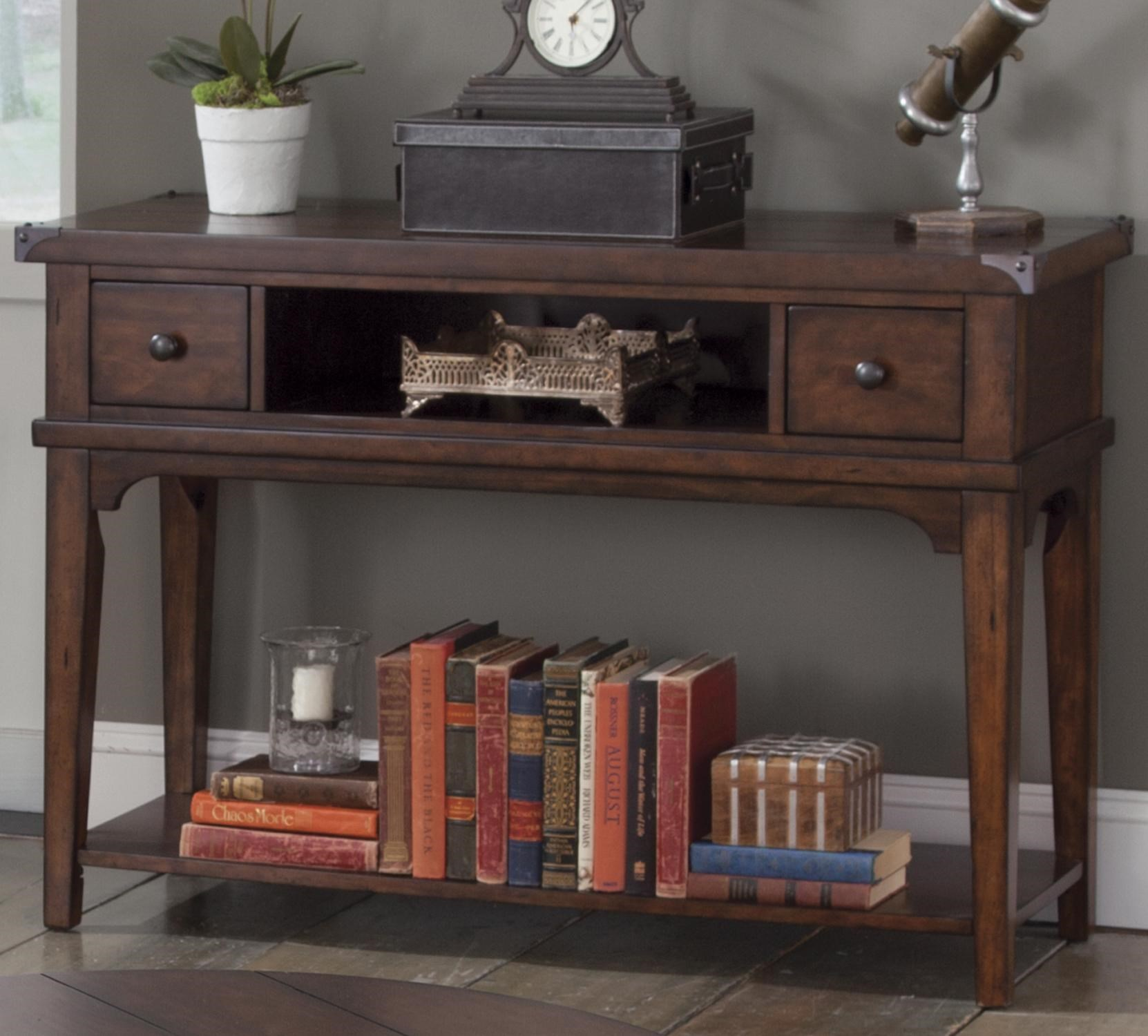 Console Table But Aspen Skies Industrial Casual Sofa Table By Liberty Furniture At Northeast Factory Direct