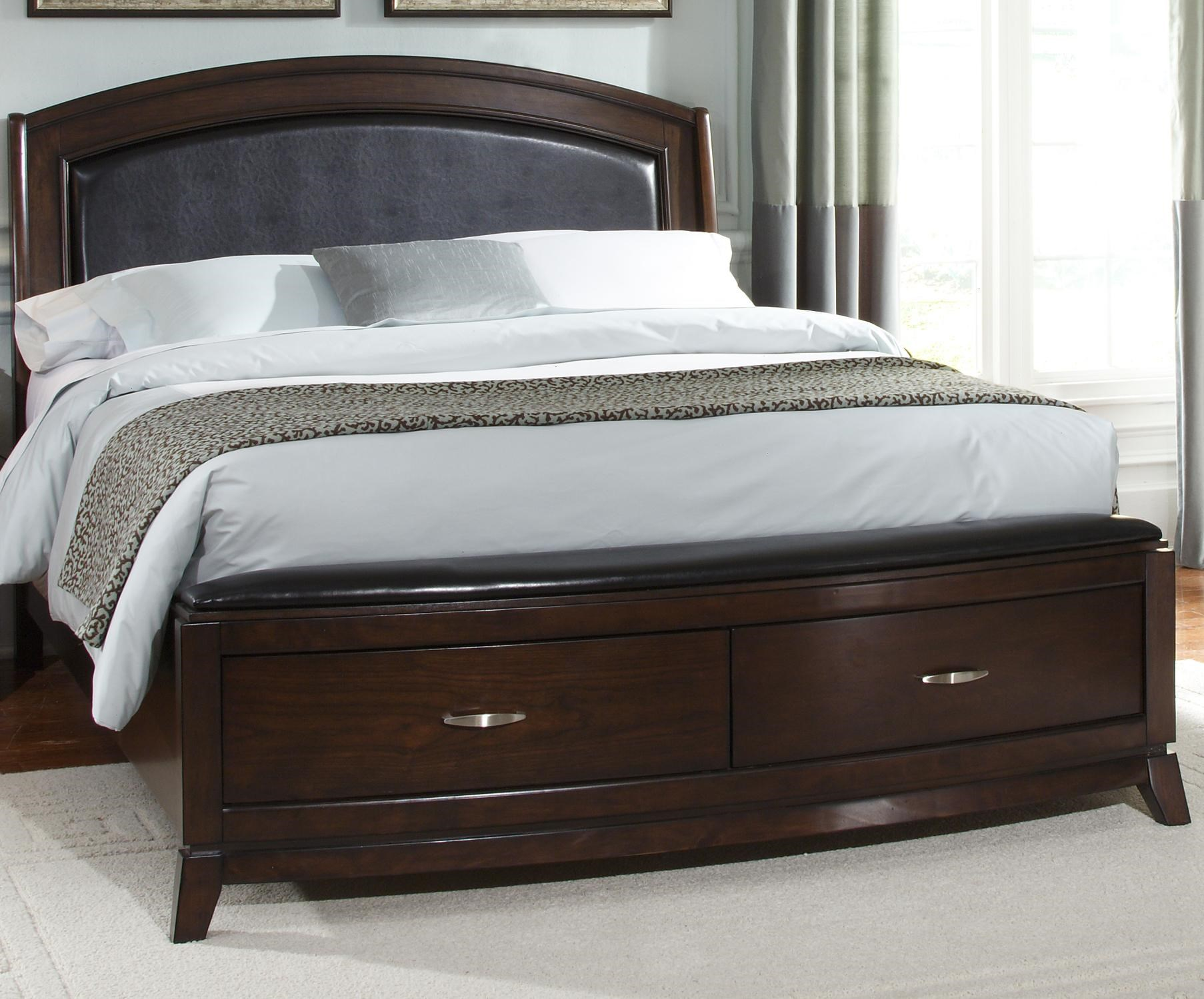 Leather Bed Frame Avalon Queen Platform Leather Bed With Storage By Liberty Furniture At Rotmans