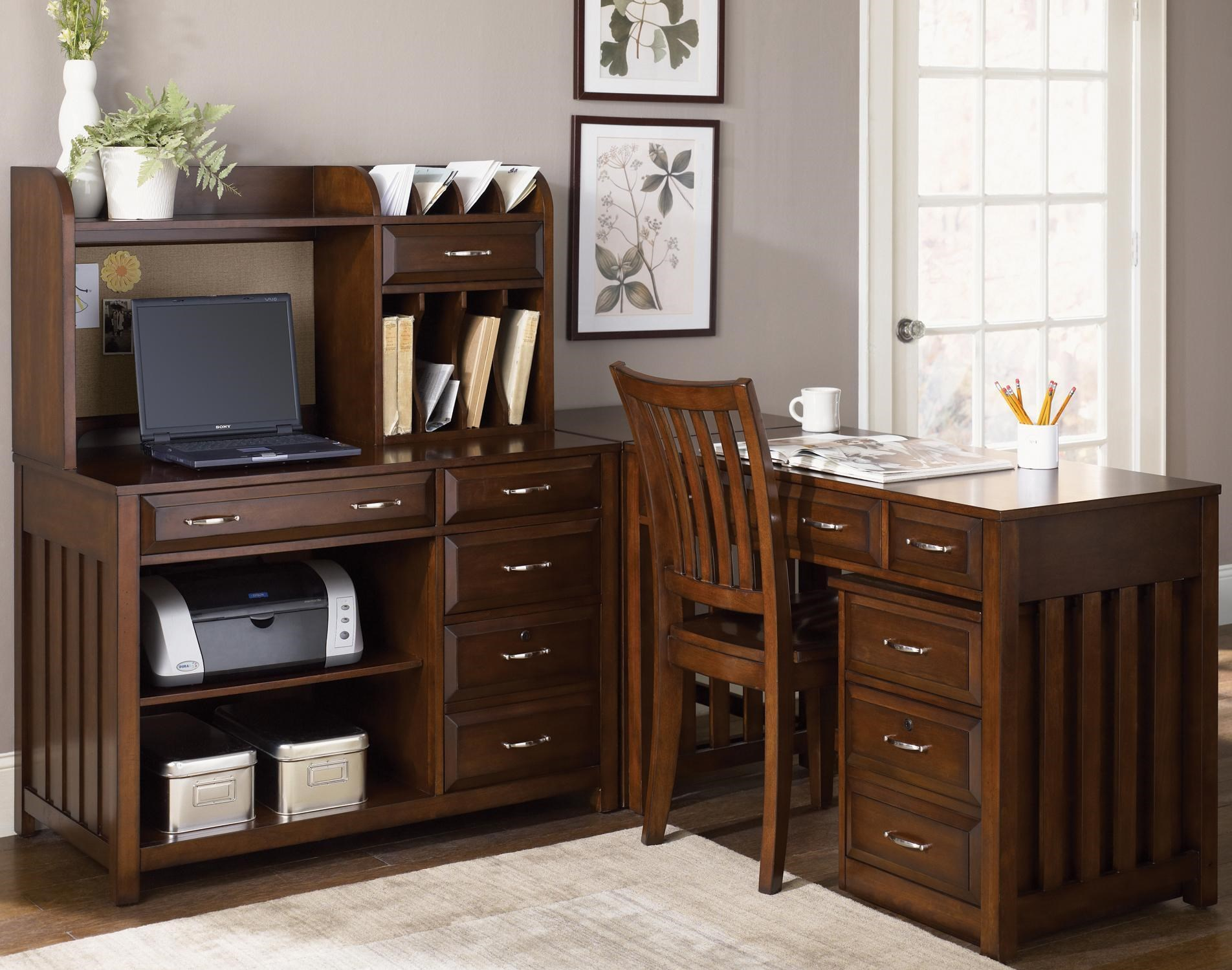 Desk With File Cabinet Hampton Bay 5 Piece L Shaped Desk And File Cabinet Unit By Liberty Furniture At Wayside Furniture