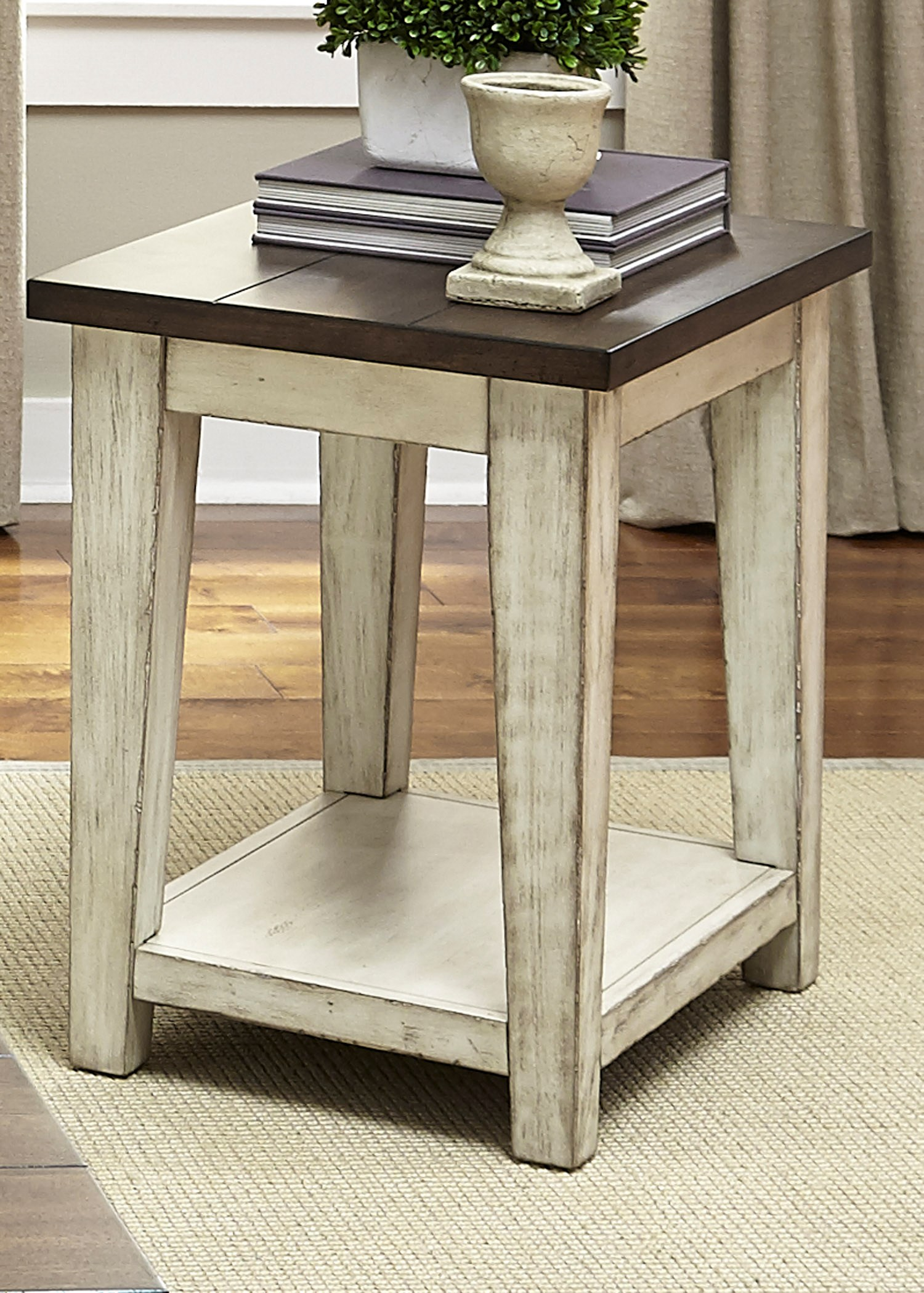 Rustic Wood End Table Lancaster Rustic End Table With Light Distressing By Liberty Furniture At Wayside Furniture