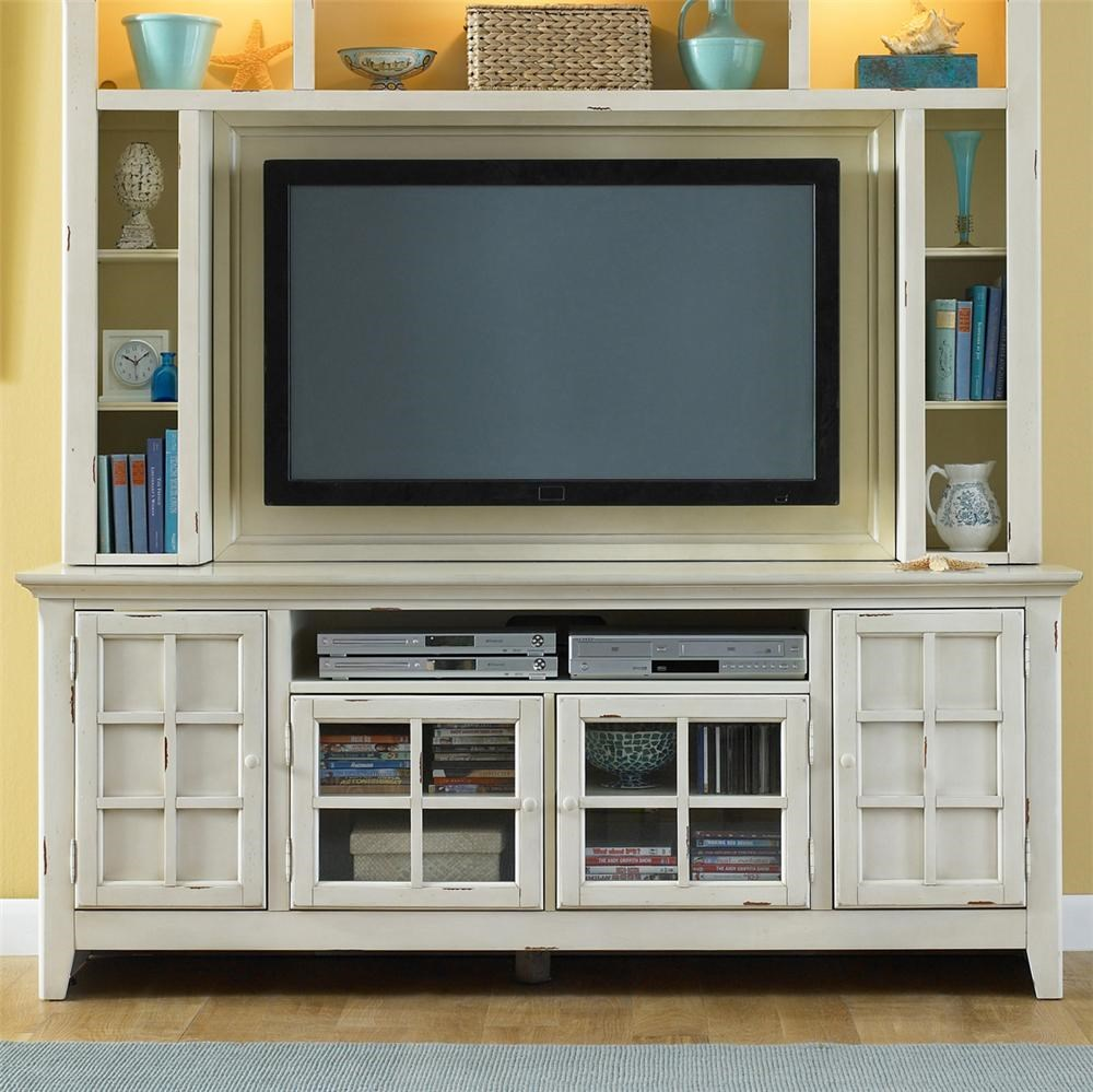 Flat Screen Tv Stands New Generation Coastal Style Entertainment Console With Storage By Liberty Furniture At Rotmans