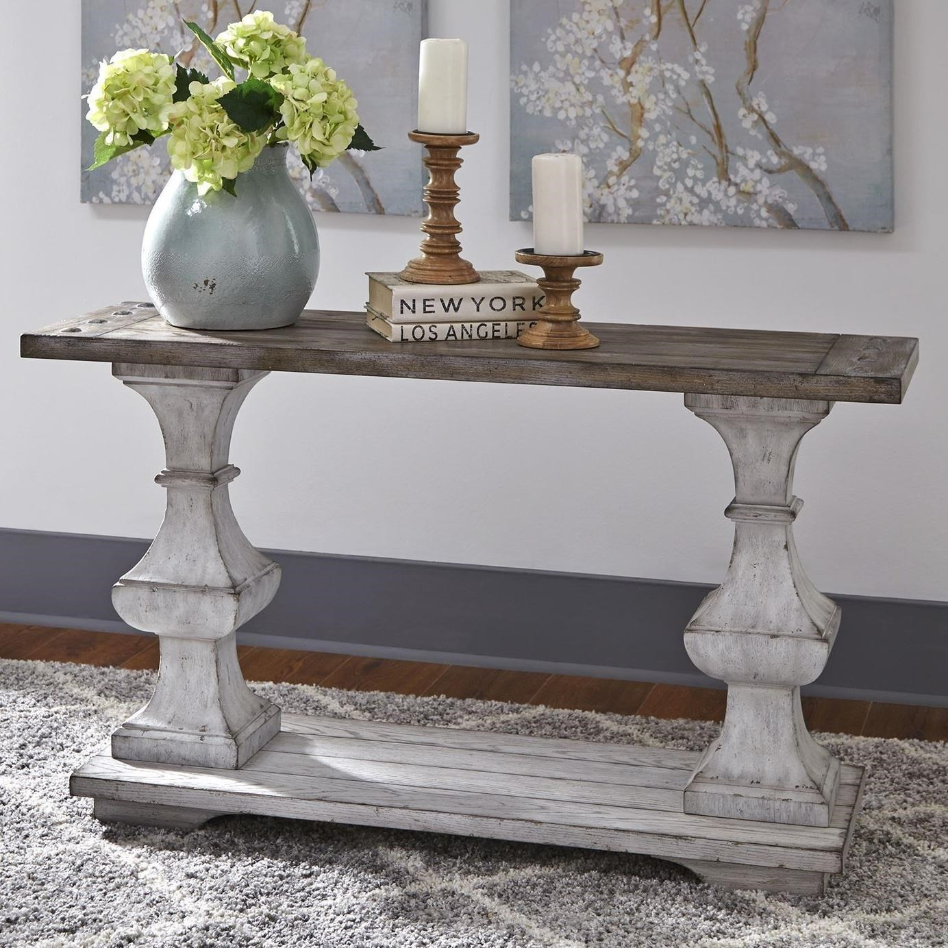What Is Sofa In Spanish Sedona Traditional Sofa Table With Bottom Shelf By Liberty Furniture At Miskelly Furniture