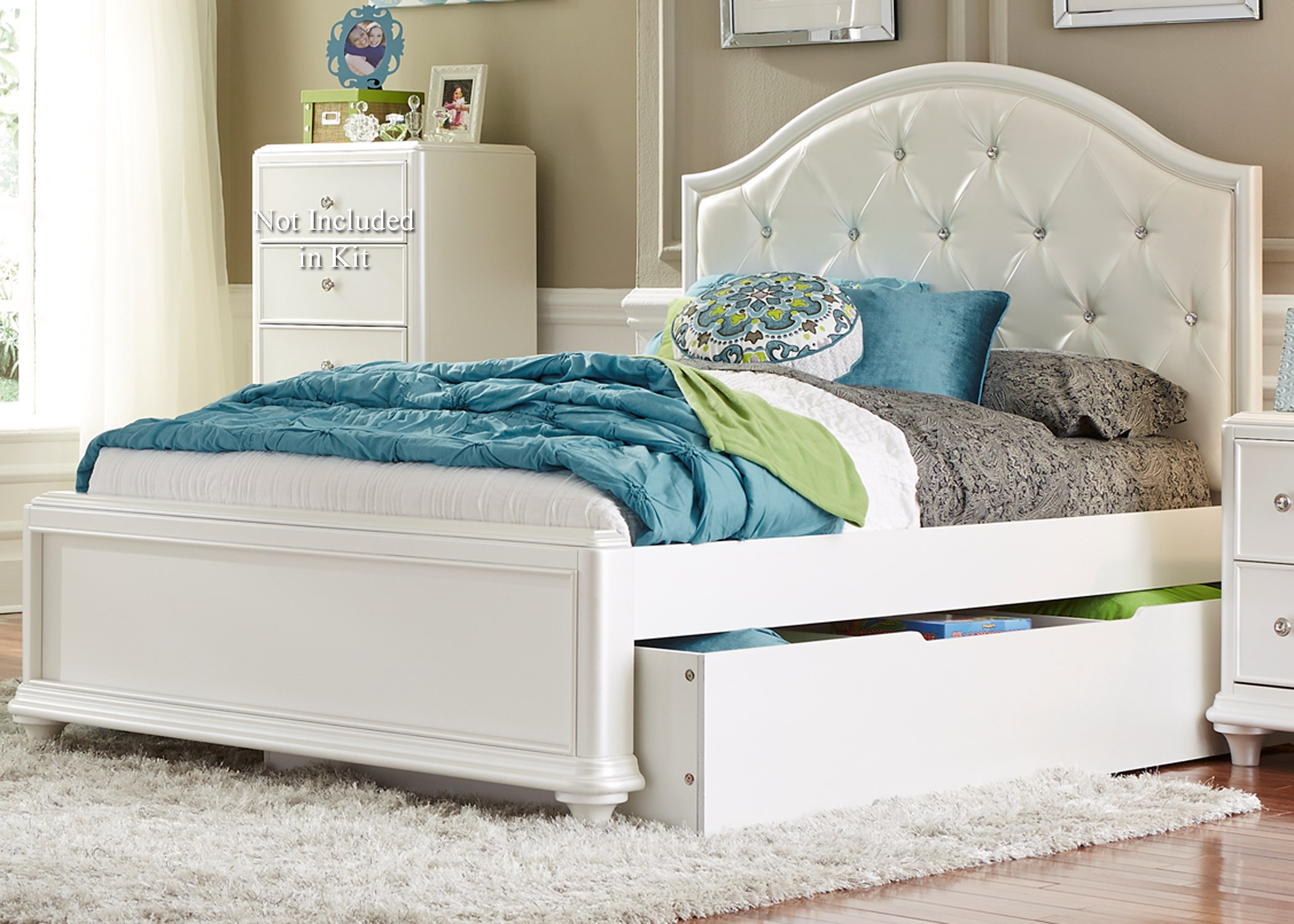 Bed Headboard Stardust Twin Trundle Bed With Tufted Headboard By Liberty Furniture At Rotmans