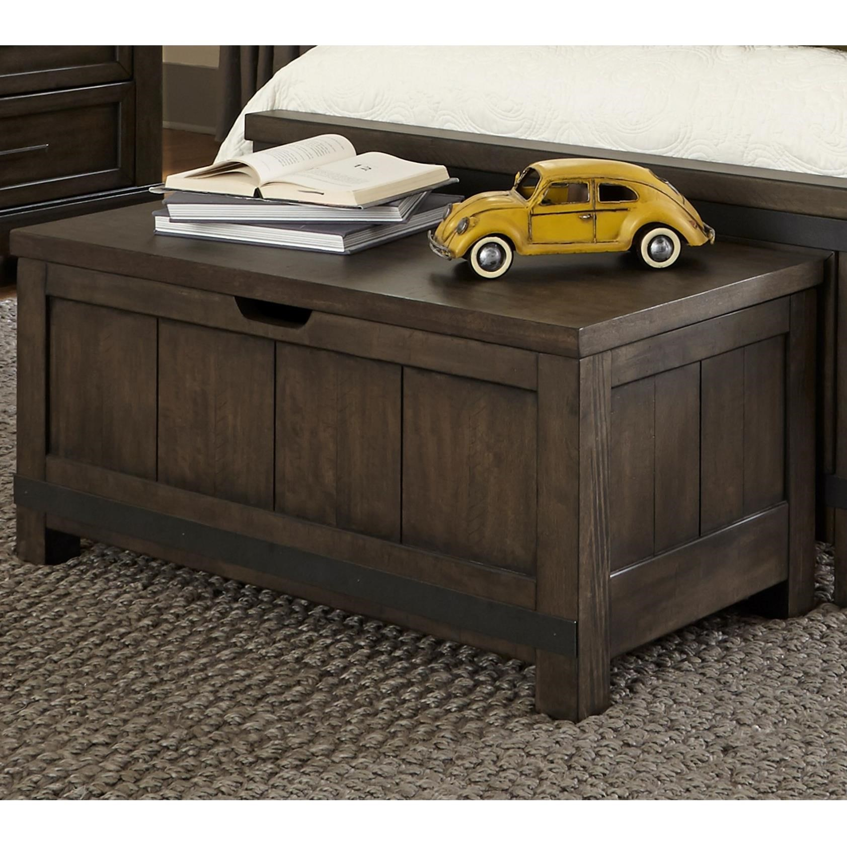 Toy Chests Thornwood Hills Rustic Toy Chest Bench By Liberty Furniture At John V Schultz Furniture