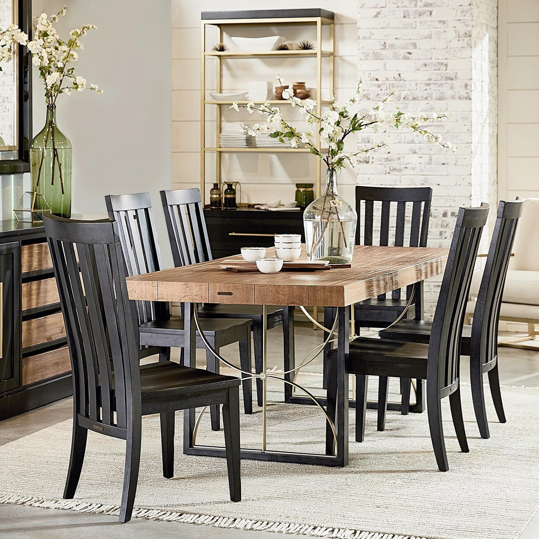 Modern Dining Room Furniture Modern 6 Contemporary Table Chair Set By Magnolia Home By Joanna Gaines At Olinde S Furniture