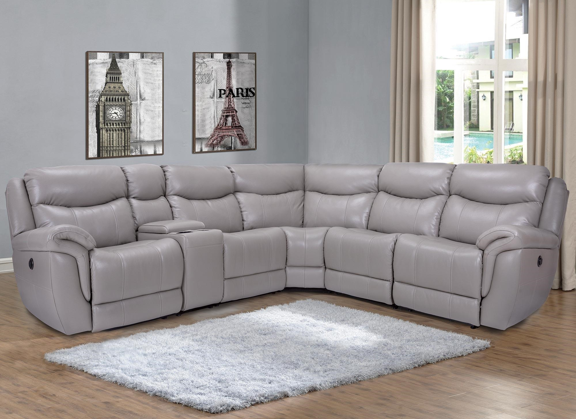 Leather Sectional Sofa Recliner Trieste 6pc Power Reclining Leather Sectional By Marzilli International At Rotmans
