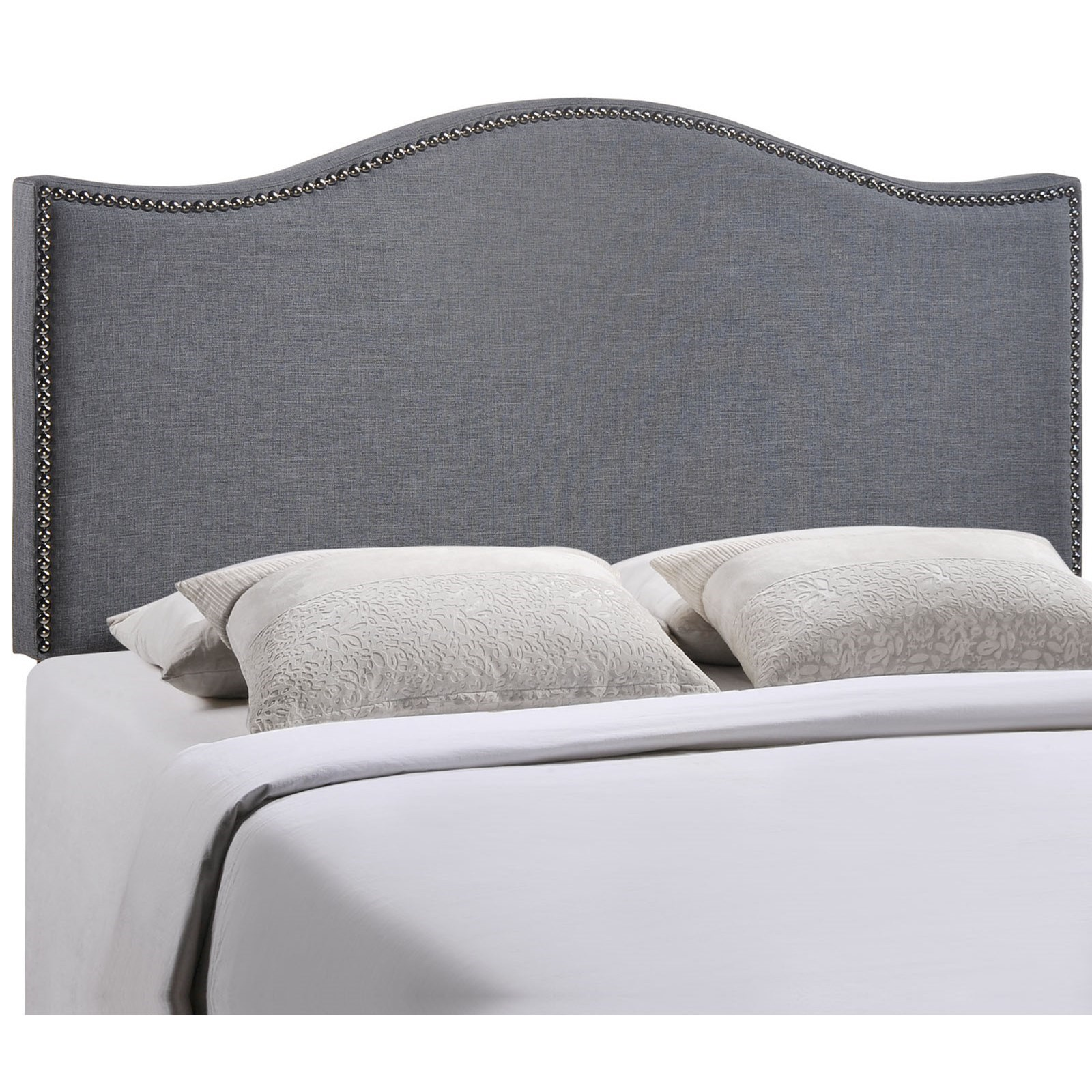 Making An Upholstered Headboard With Nailhead Trim Curl Queen Nailhead Upholstered Headboard By Modway At Value City Furniture