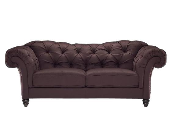 Chesterfield Lounge Natuzzi Editions A436 Traditional Chesterfield Leather Sofa
