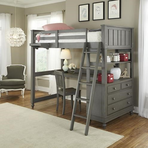 Bed With Desk Lake House Twin Loft Bed With Desk And Chest By Ne Kids At Darvin Furniture