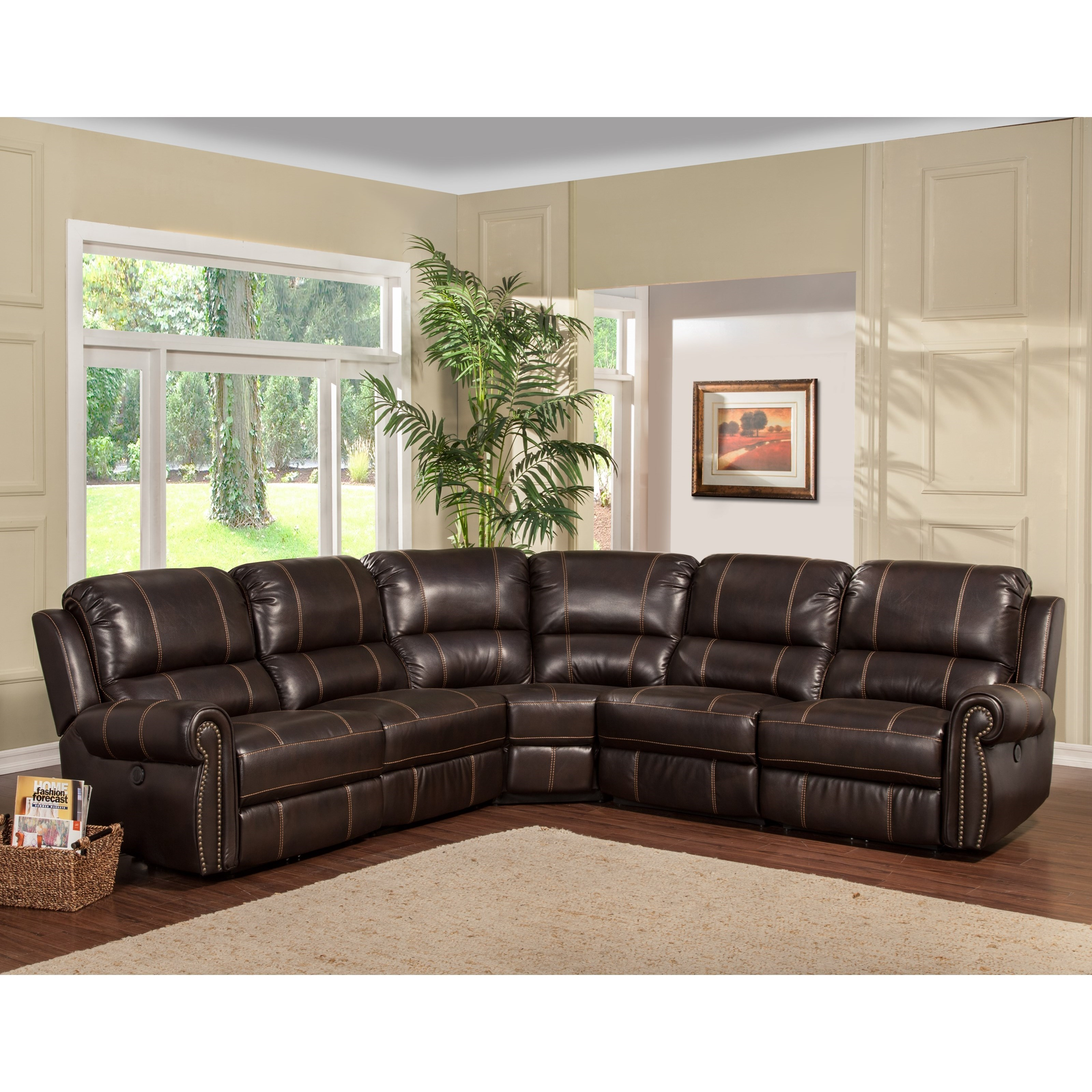 Sectional Sofa Living Room Layout Parker Living Webber Traditional Sectional Sofa With Reclining Arm