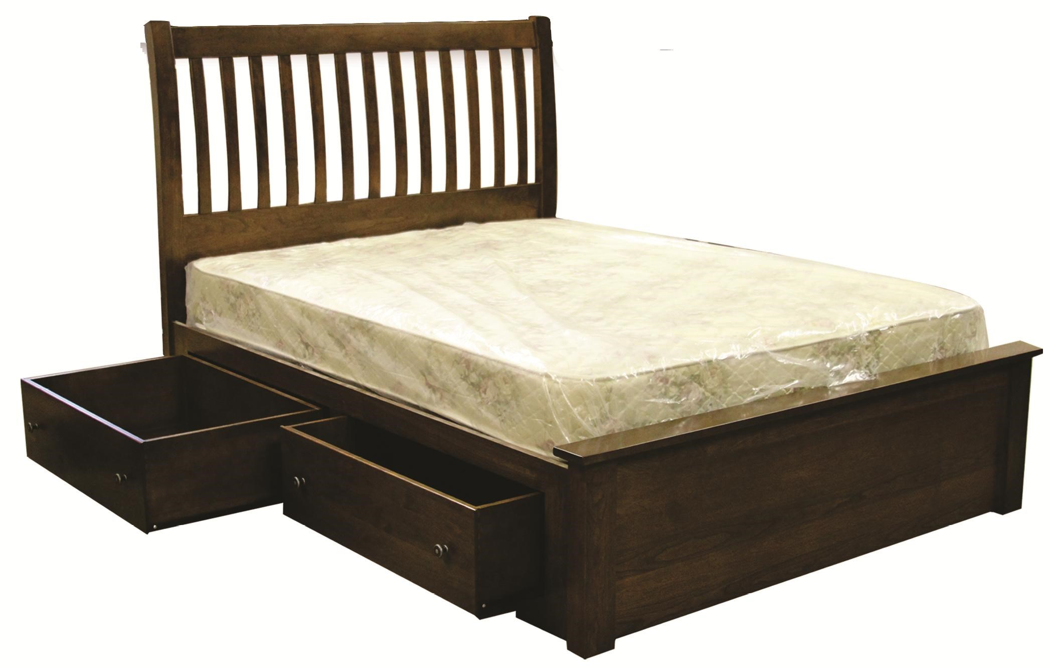 Huntington Bedroom Furniture Rotmans Amish Huntington Shaker King Solid Wood Bed With Slatted