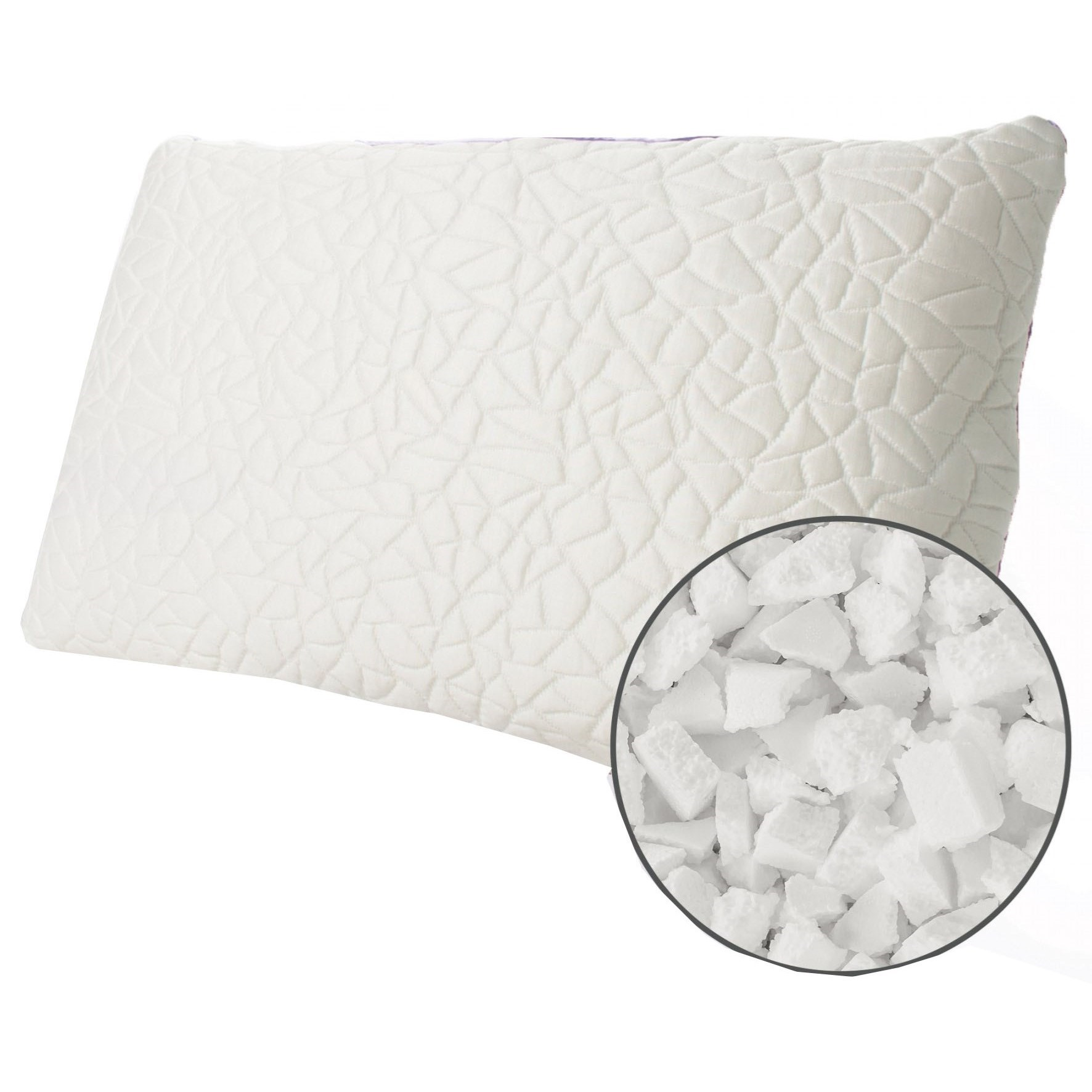 Firm Memory Foam Pillow Snow Foam Cluster Cooling Pillow Queen Snow Cooling Pillow With Firm Memory Foam Cluster Fill 38 Oz By Protect A Bed At Dunk Bright Furniture