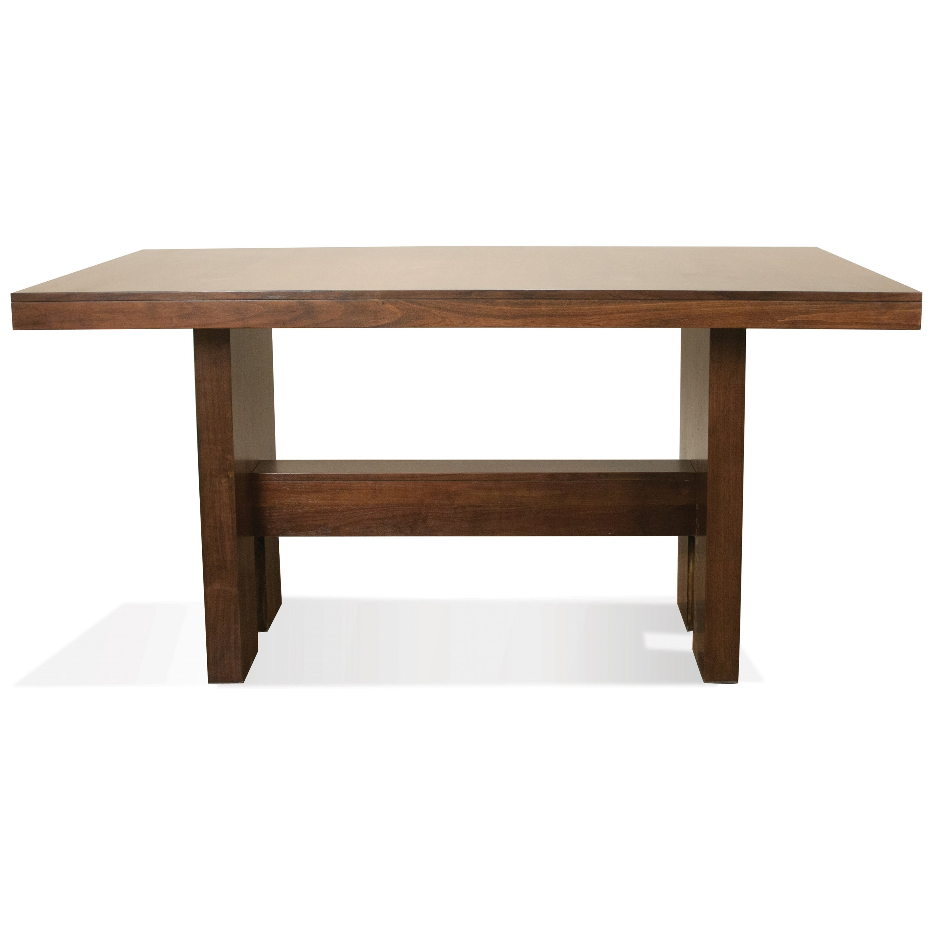 Classic Table Shapes Terra Vista Gathering Height Dining Table In Casual Walnut Finish By Riverside Furniture At Prime Brothers Furniture