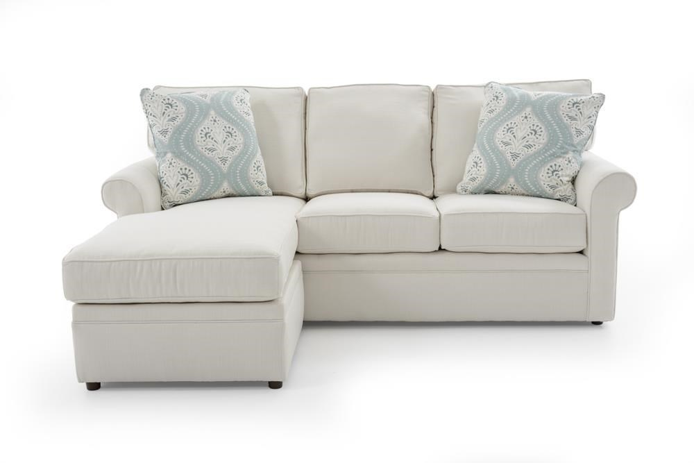 Furniture Chaise Dalton Sofa With Reversible Chaise Ottoman By Rowe At Baer S Furniture