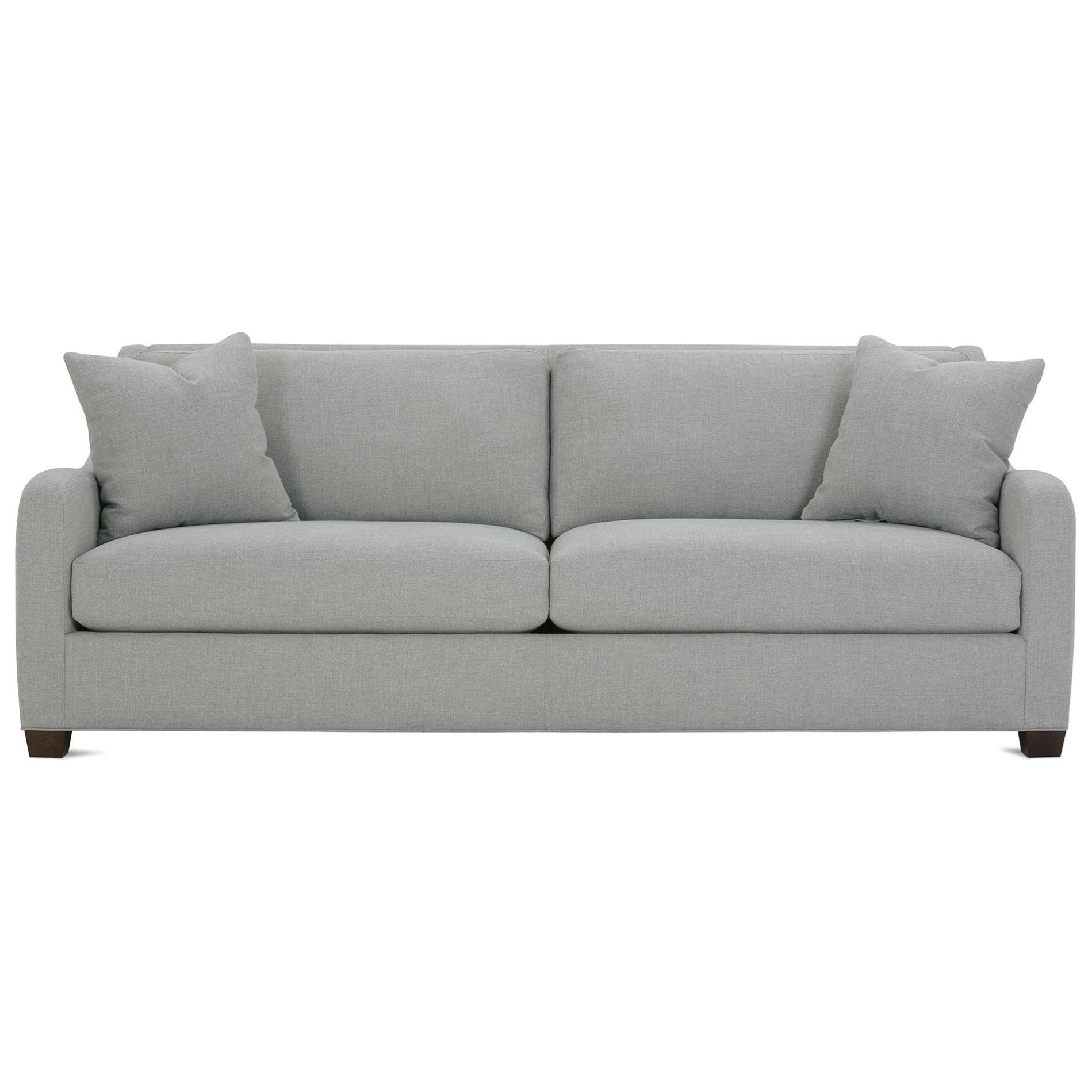 Contemporary Couch Rowe Abbie Contemporary Sofa With Saddle Arms Belfort Furniture