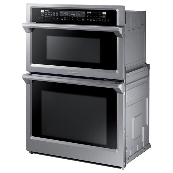 Combination Microwave Oven Double Wall Ovens Samsung 30 Combination Microwave Wall Oven By Samsung Appliances At Furniture And Appliancemart