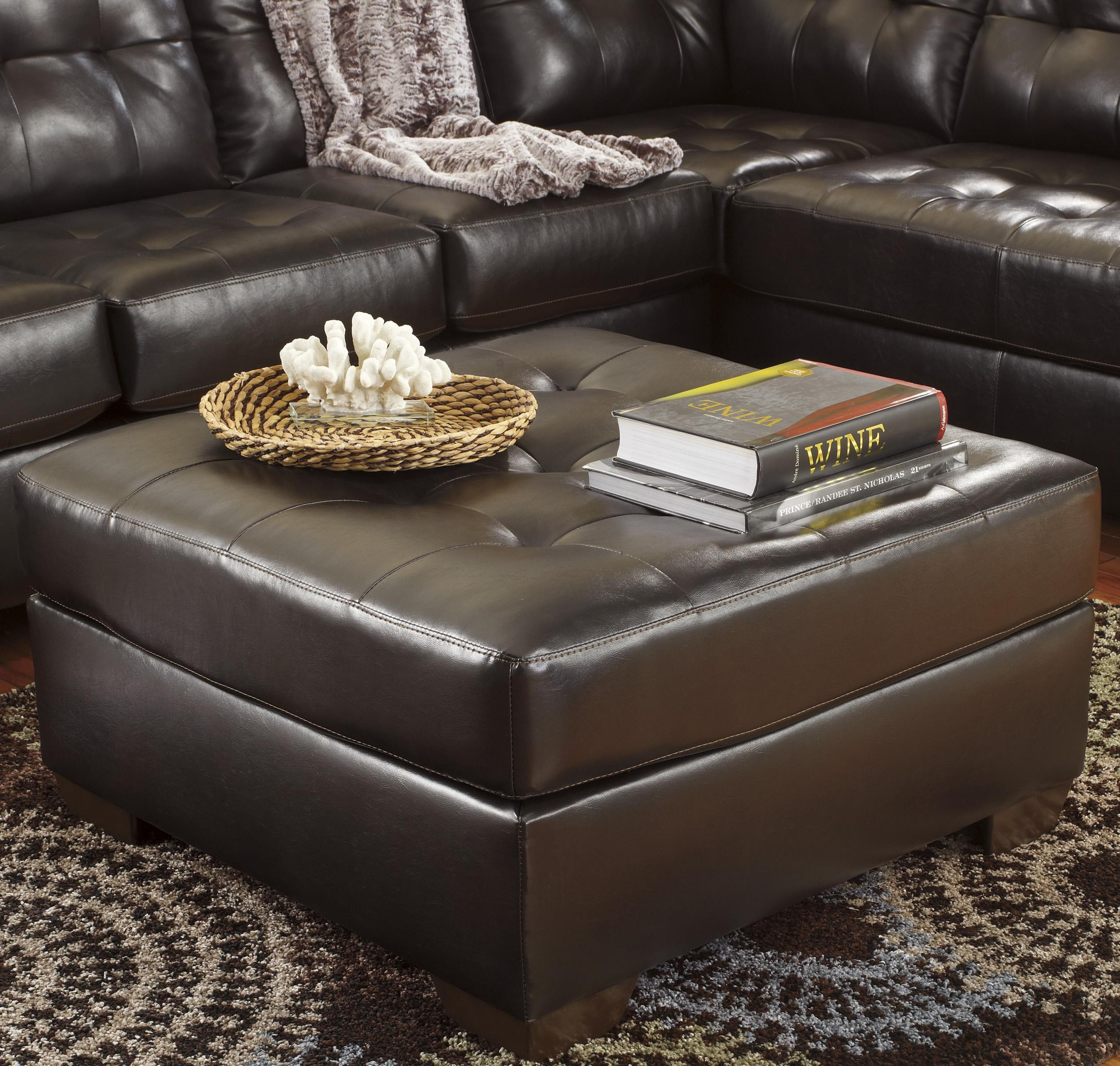 Ottoman Uses Alliston Durablend Chocolate Oversized Accent Ottoman W Tufting By Signature Design By Ashley At Rotmans
