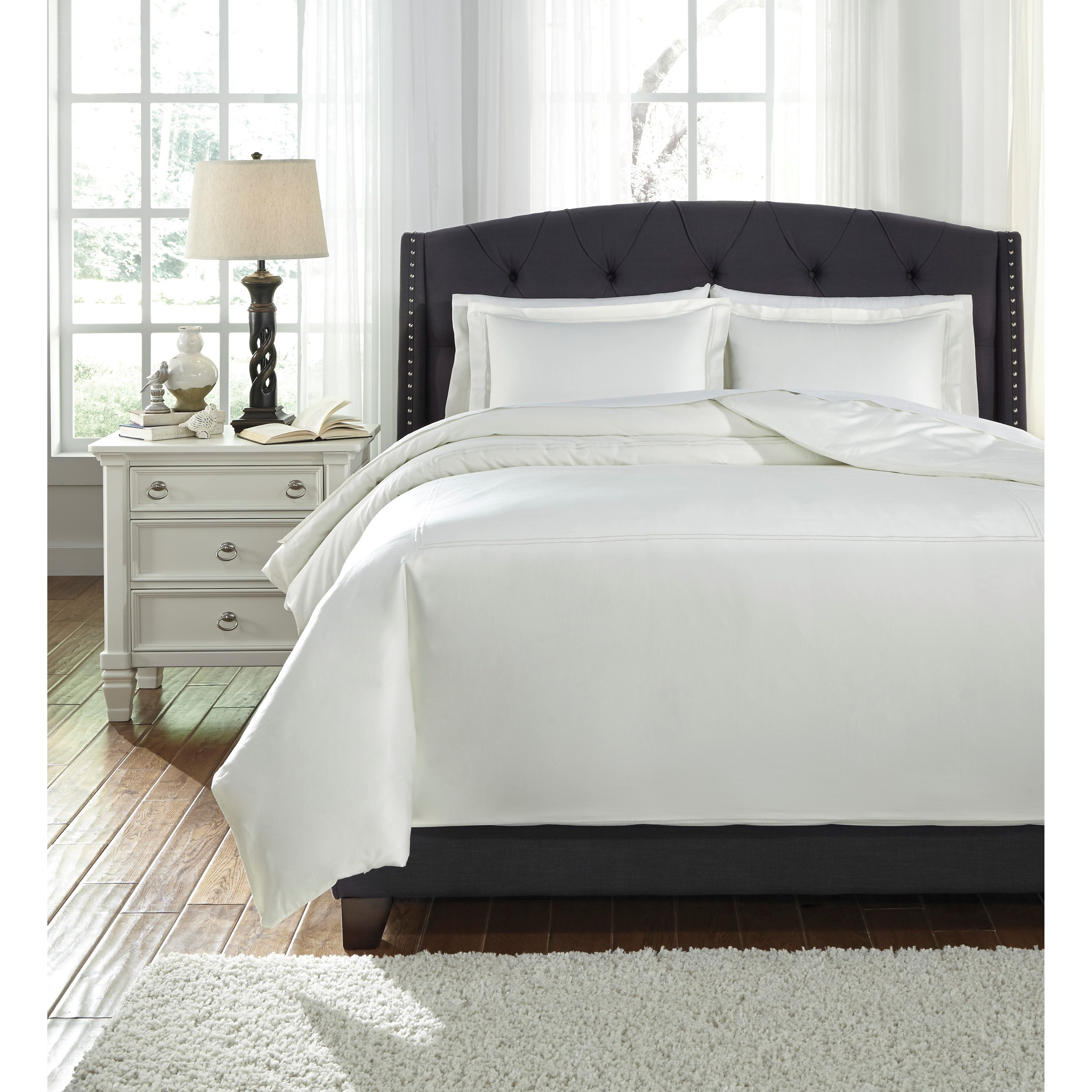 White Duvet Cover Queen Bedding Sets Queen Maurilio White Comforter Set By Trendz At Ruby Gordon Home