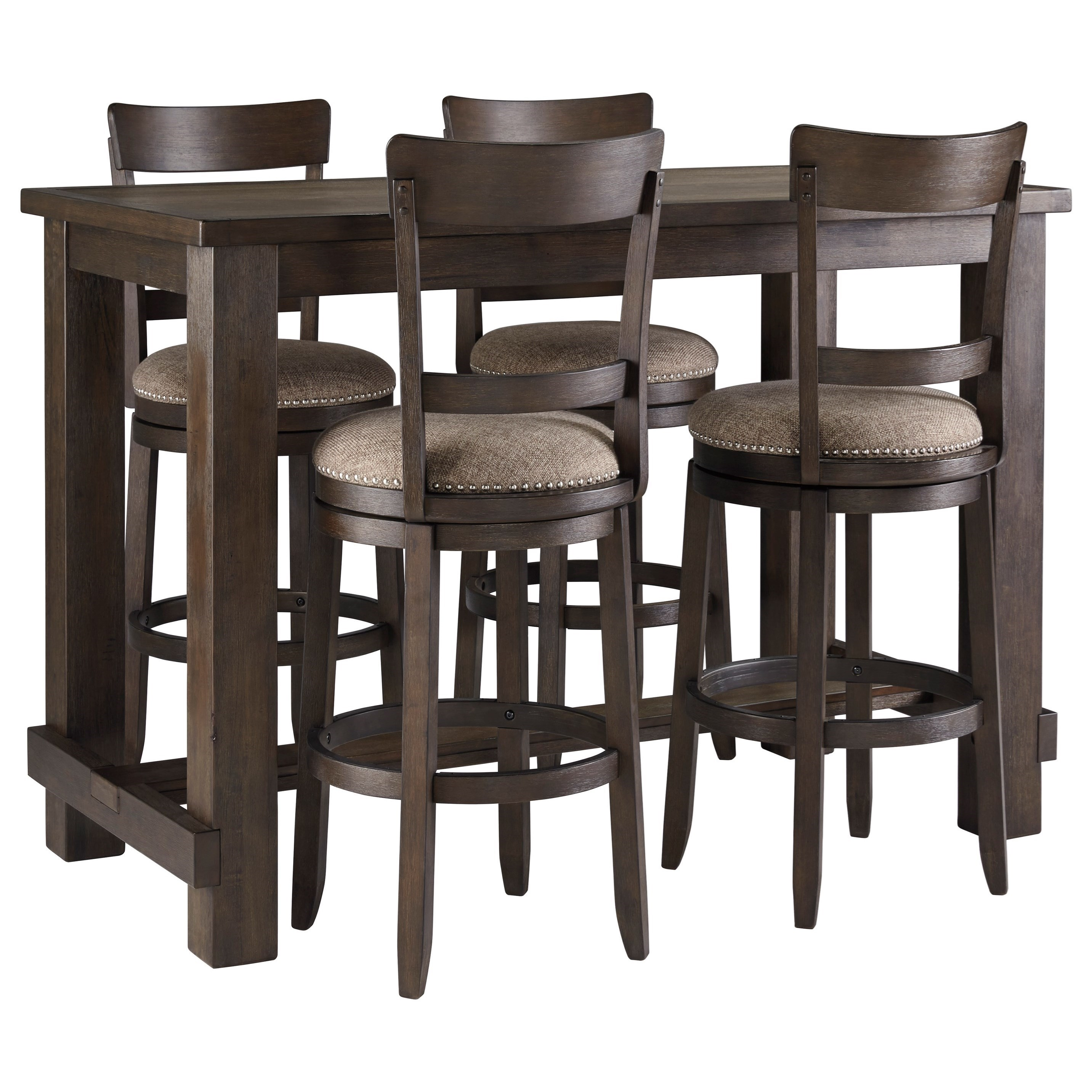 Table And Bar Stools Drewing Five Piece Chair Pub Table Set By Signature Design By Ashley At Value City Furniture