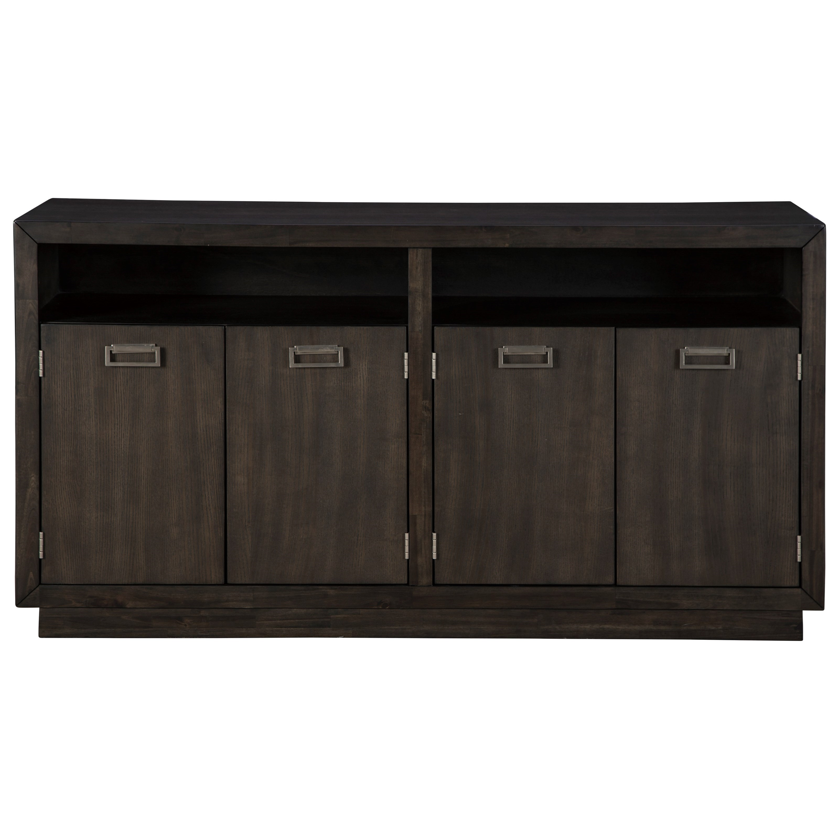 Sideboard Buffet Espresso Hyndell Contemporary Dining Room Server With Metal Accents In Dark Espresso Finish By Signature Design By Ashley At Rotmans