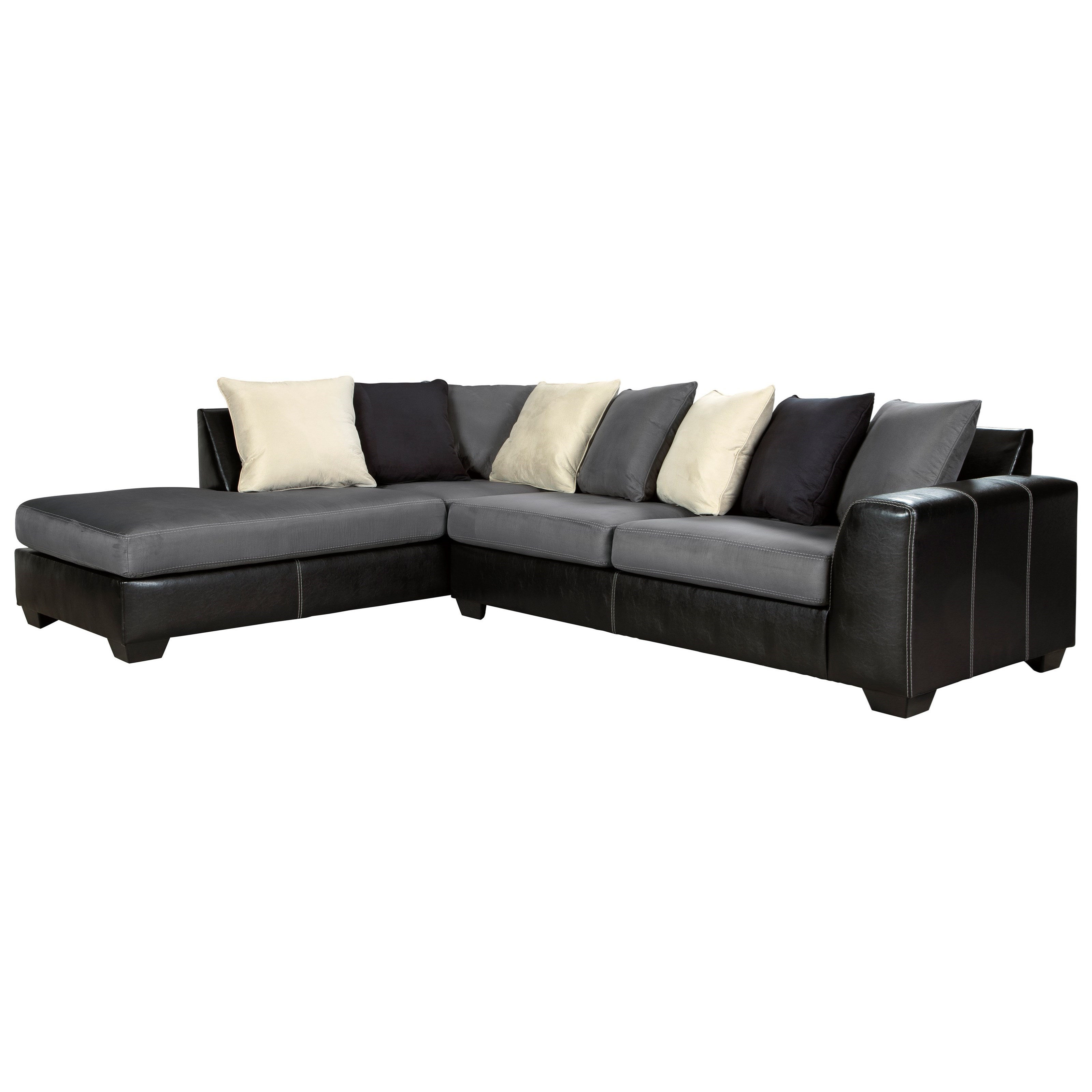 Sofa Modern Jacurso Contemporary Sectional Sofa With Chaise By Signature Design By Ashley At Furniture And Appliancemart