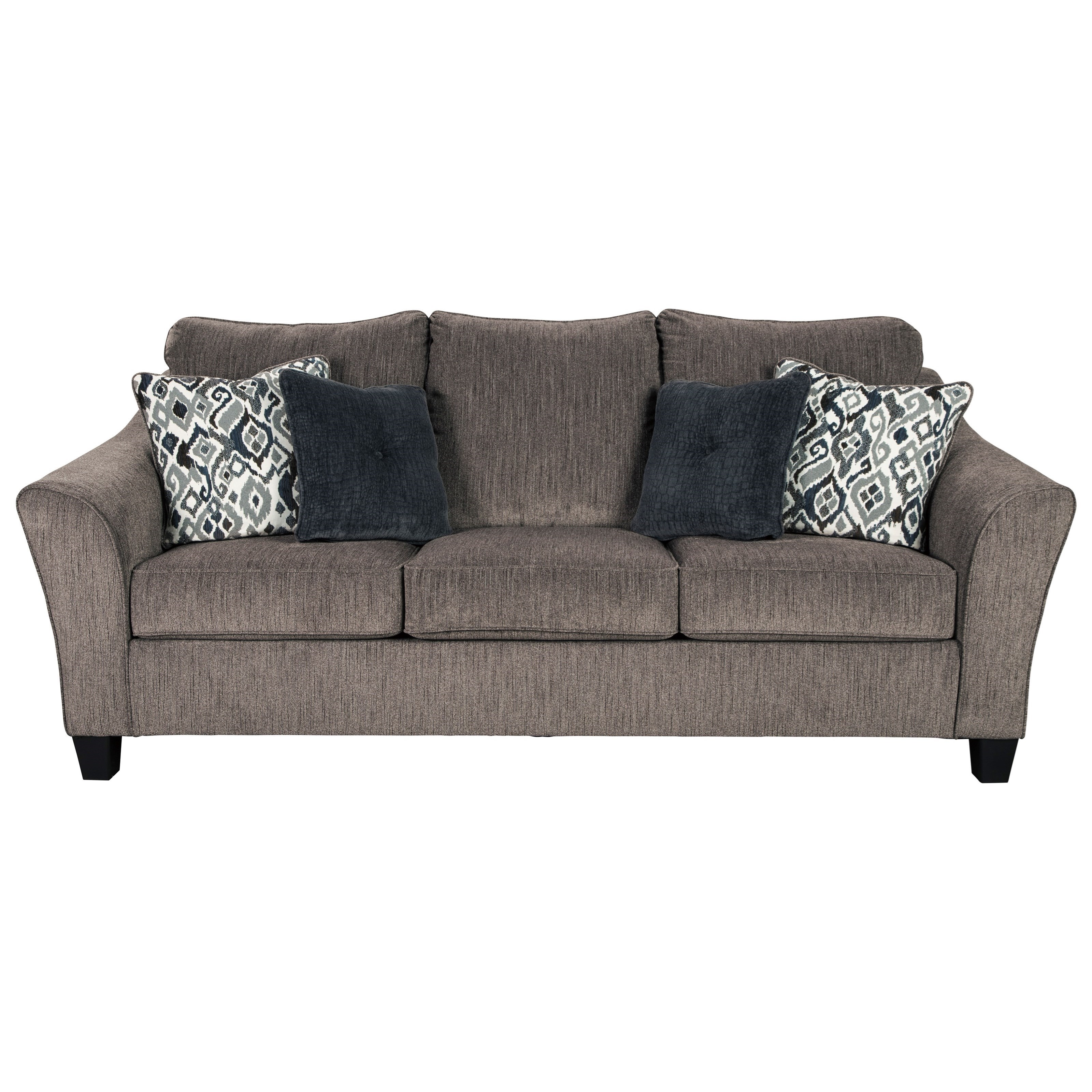 Signature Design By Ashley Nemoli Transitional Sofa With Flared Arm Royal Furniture Sofas