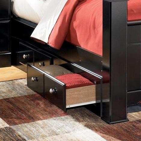King Bed Frame Design Shay B271 Queen King Bed Storage Unit By Signature Design By Ashley At Del Sol Furniture