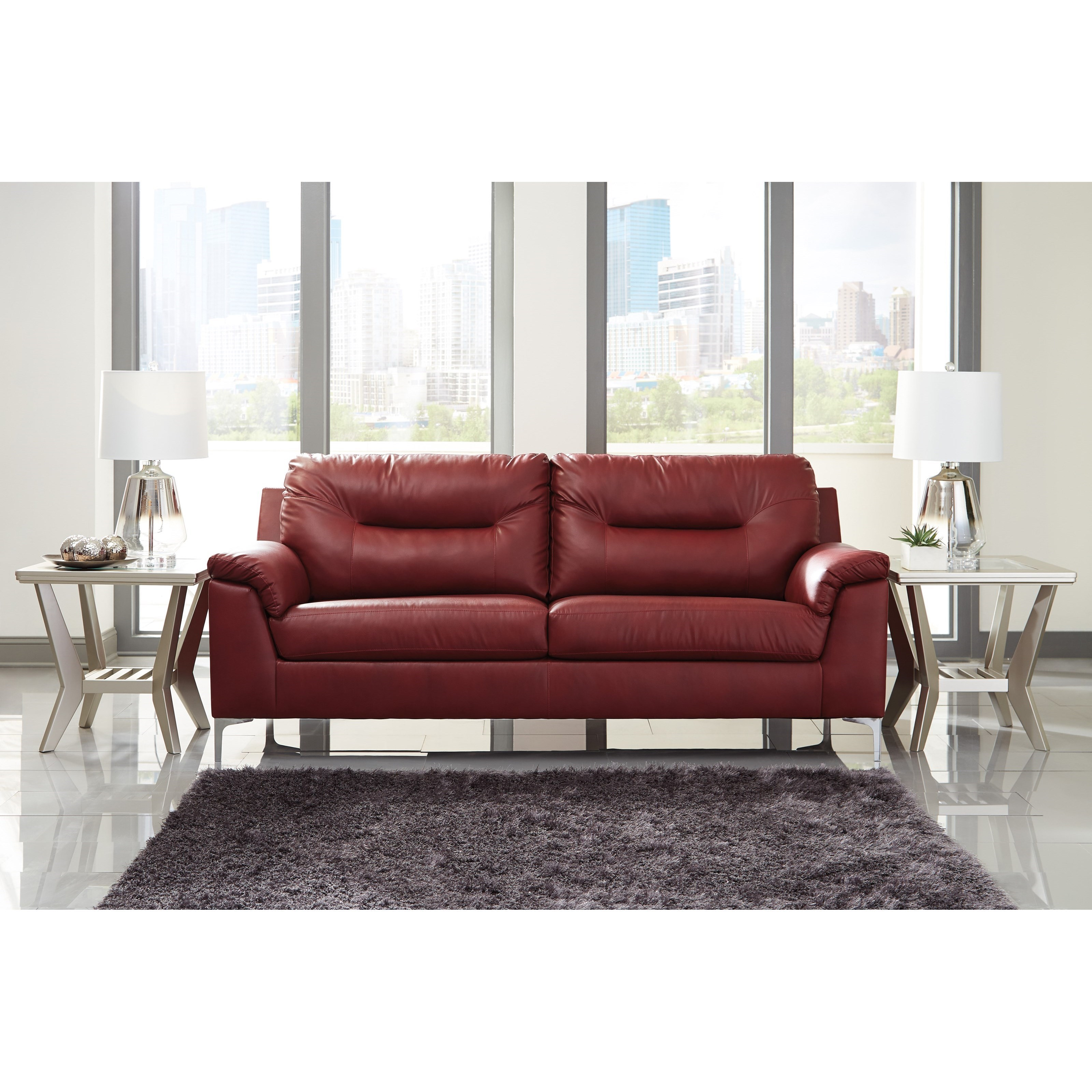 Design Couch Tensas Contemporary Sofa With Pillow Arms By Signature Design By Ashley At Northeast Factory Direct