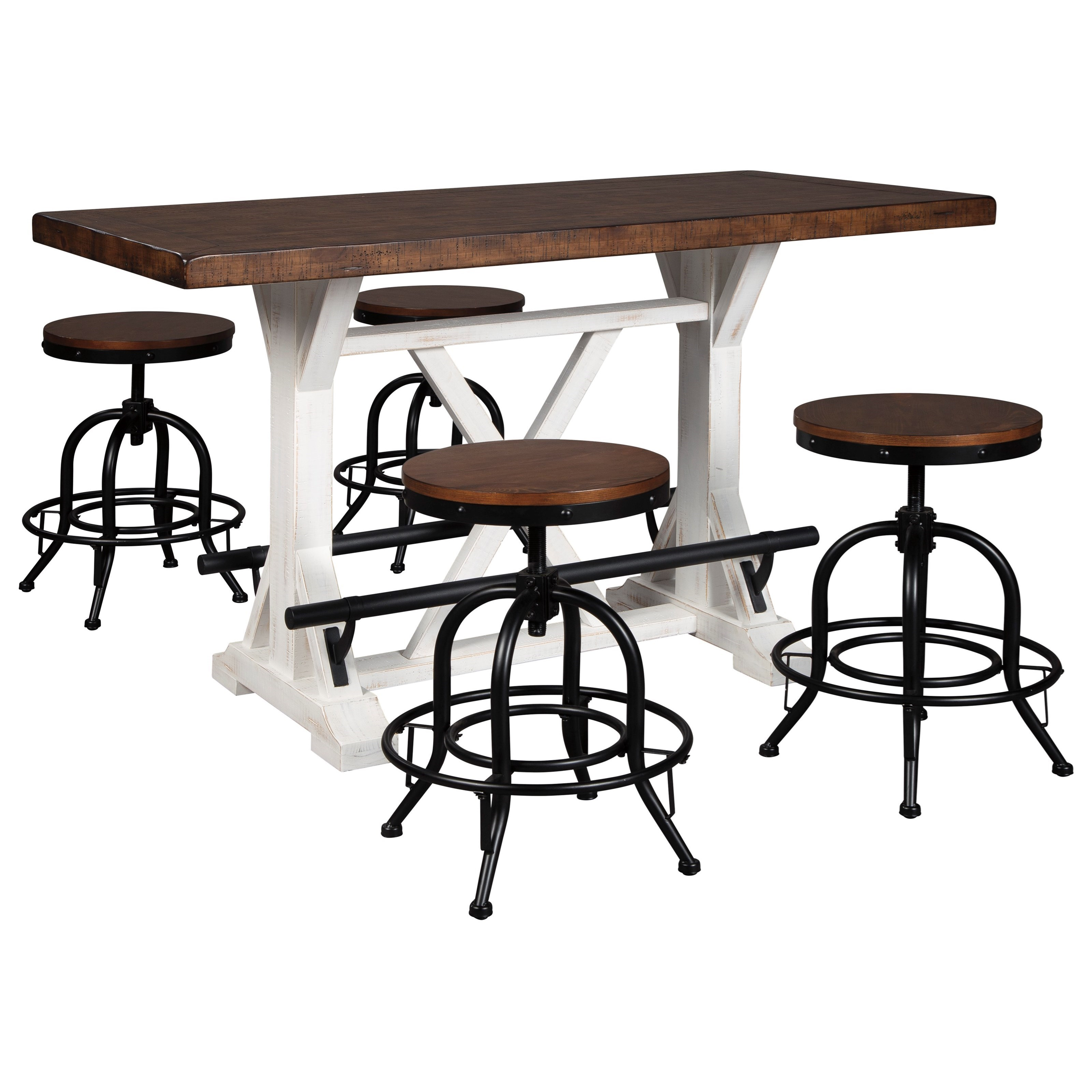 Table And Bar Stools Valebeck 5 Piece Counter Height Dining Set By Signature Design By Ashley At Lindy S Furniture Company