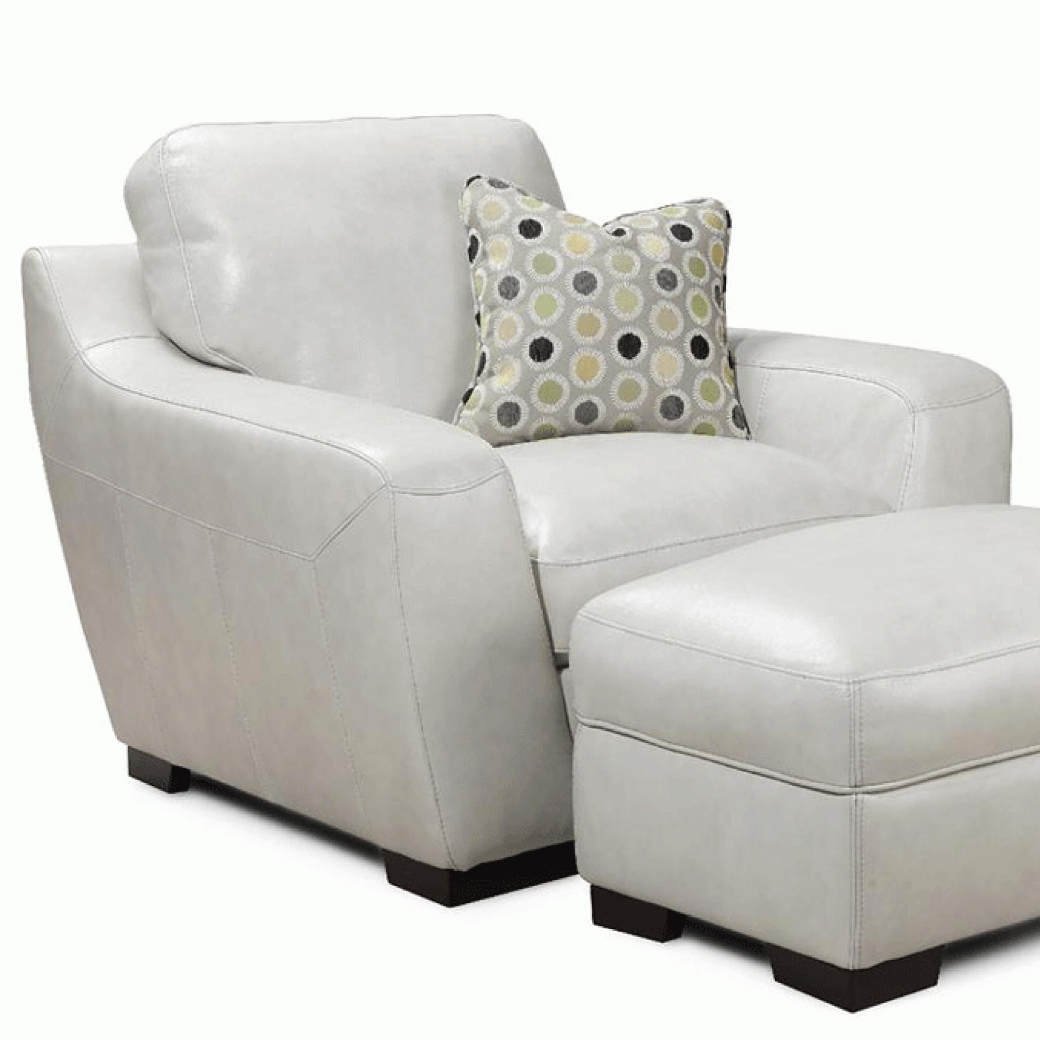 Alpha Sofa Group Simon Li Alpha Leather Match Chair With Accent Pillow Story