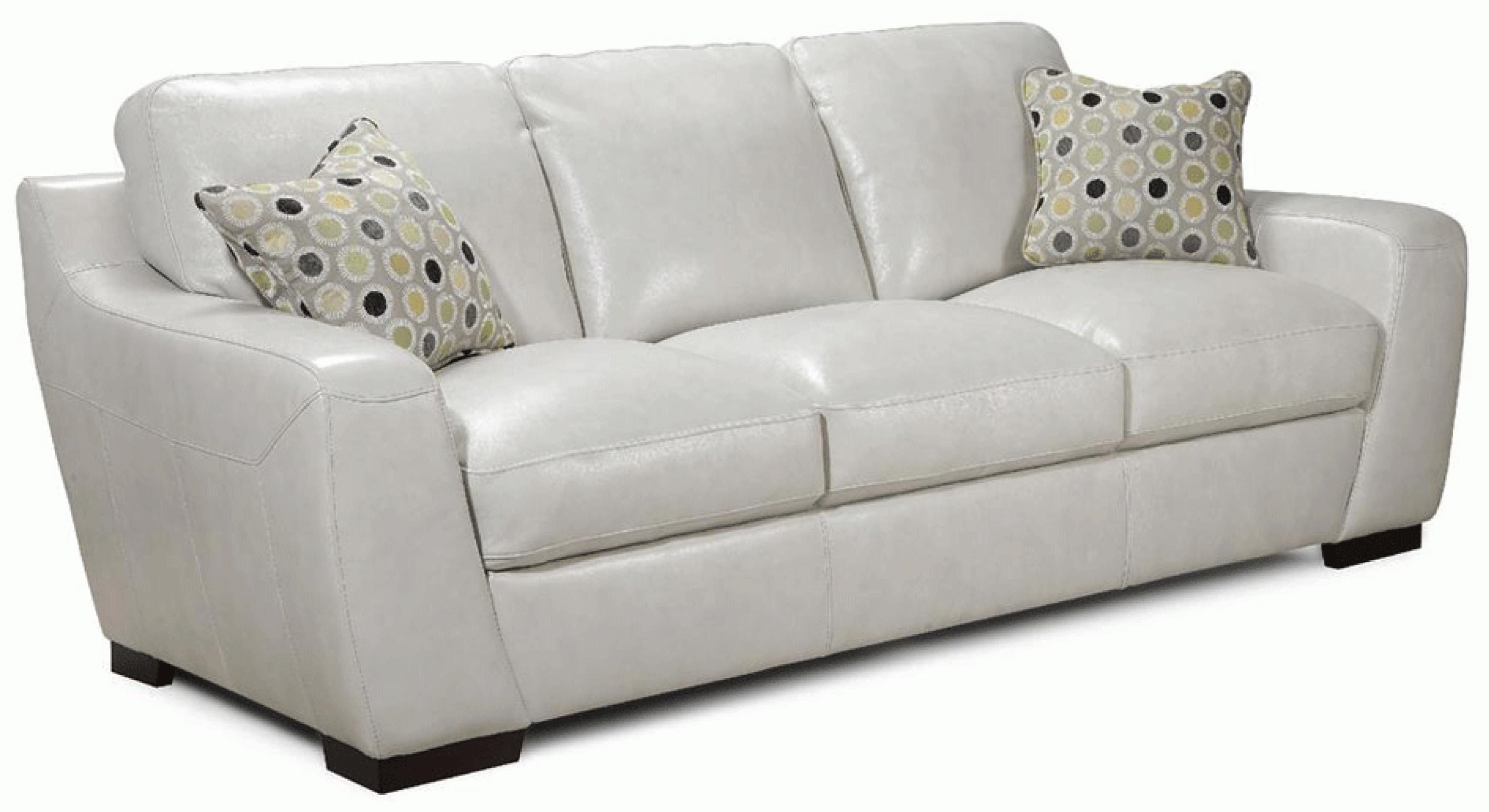 Alpha Sofa Group Simon Li Alpha Stationary Leather Match Sofa With Fabric Accent