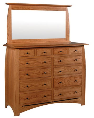 12 Drawer Chest Of Drawers Aspen 12 Drawer Bureau And Beveled Mirror By Simply Amish At Dunk Bright Furniture