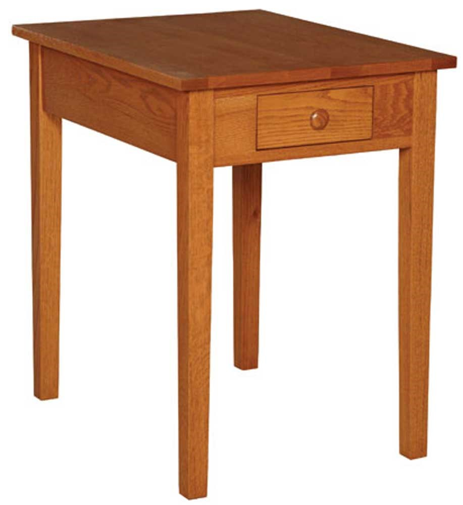 End Table With Lamp Built In Simply Amish Shaker Amish Shaker Drawer Lamp Table Becker