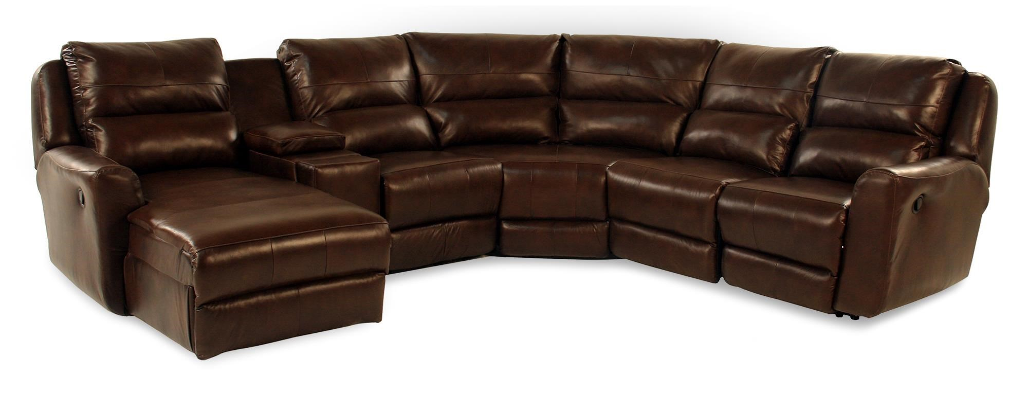 Leather Sectional Sofa Recliner Design To Recline Director 6pc Reclining Leather Sectional