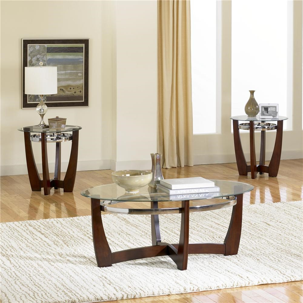 End Table For Living Room Apollo 3 Pack With Glass Top Cocktail Table And 2 Glass Top End Tables By Standard Furniture At Dunk Bright Furniture