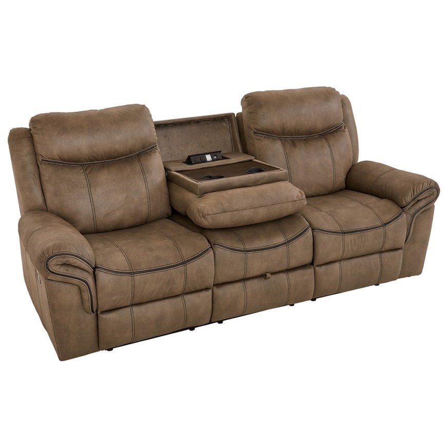 Sofa Foam Leeds Knoxville Casual Manual Motion Sofa With Drop Down Console For Usb Plug And Cupholders By Standard Furniture At Standard Furniture